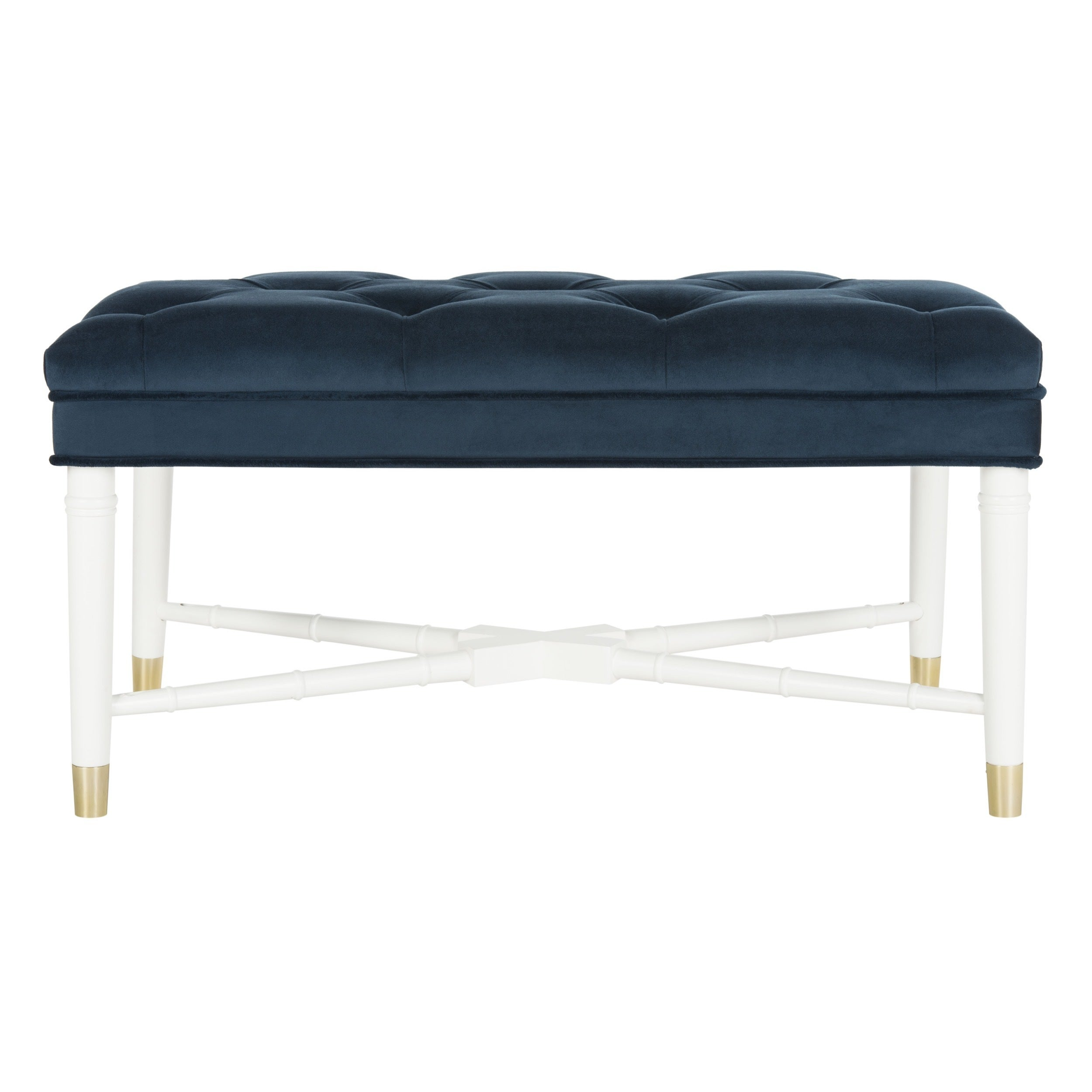 zoom home bench neil in legs navy x to tufted w hover chic velvet on dr