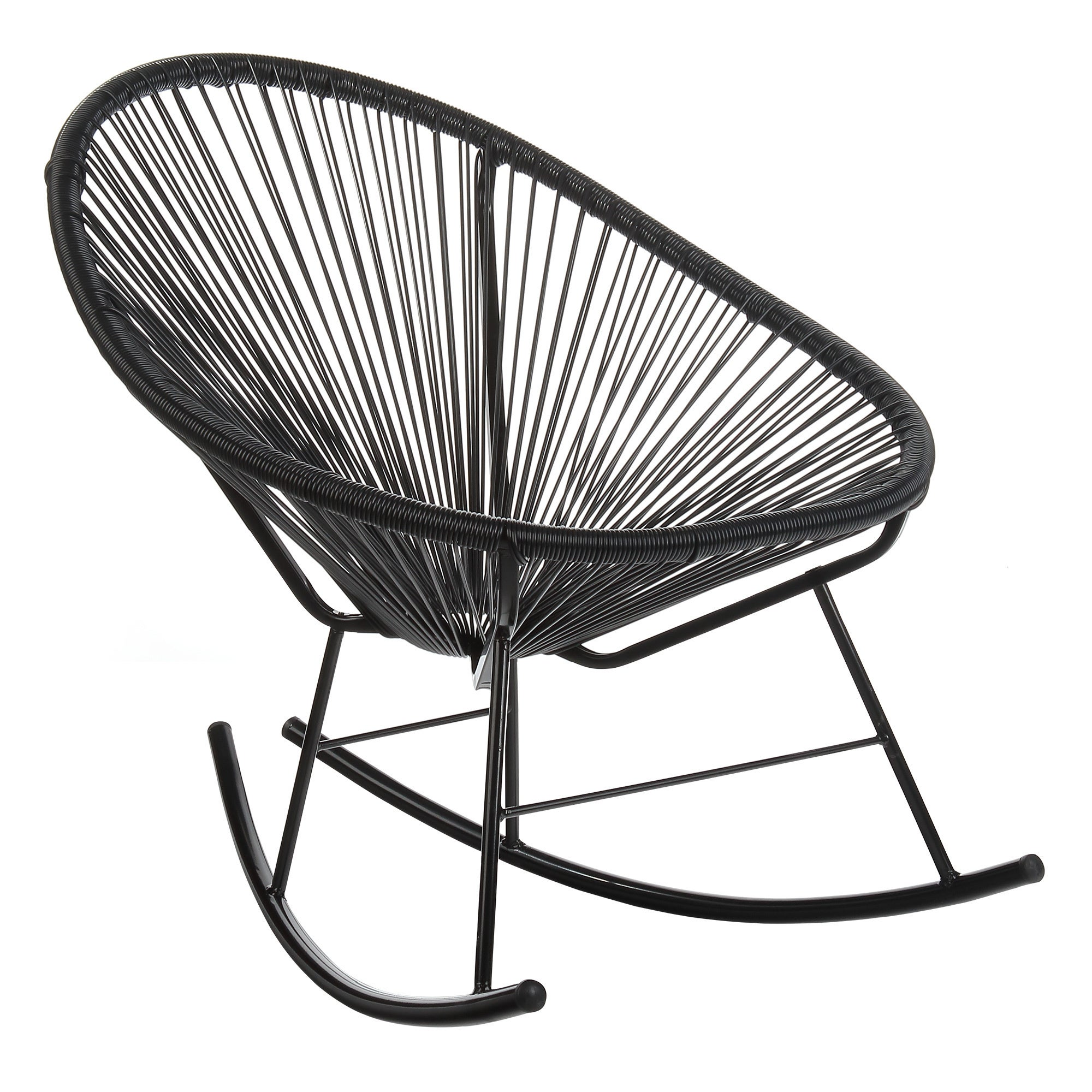 Shop Handmade Acapulco Papasan Rocking Chair, Indoor Or Outdoor, Black  (China)   Free Shipping Today   Overstock.com   19486660