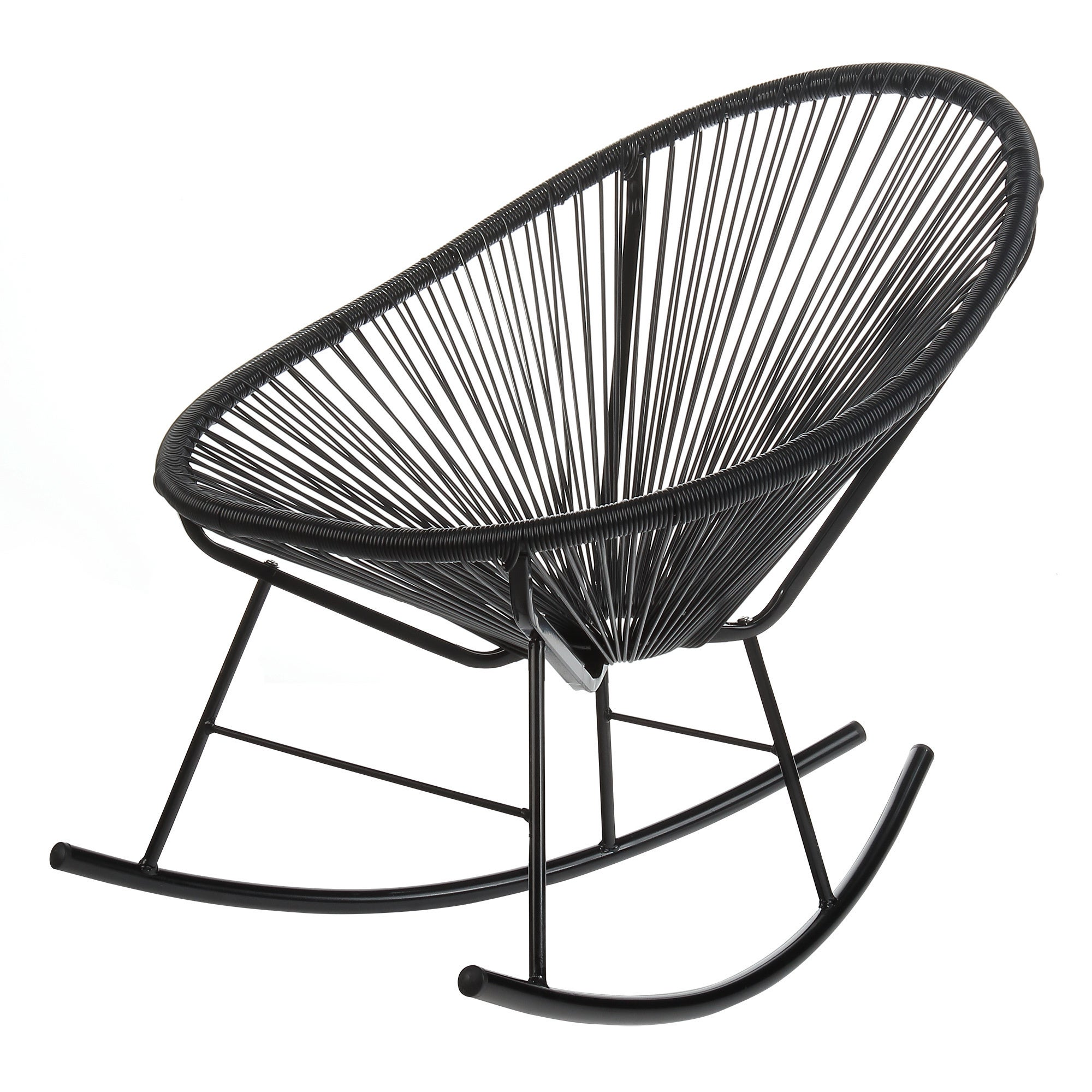 Shop Handmade Acapulco Papasan Rocking Chair, Indoor Or Outdoor, Black  (China)   On Sale   Free Shipping Today   Overstock.com   19486660