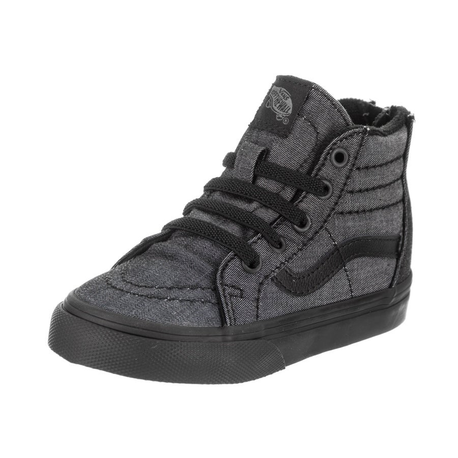 3ca8dd9b3c91 Shop Vans Toddlers Sk8-Hi Zip (Mono Chambray) Skate Shoe - Free Shipping  Today - Overstock - 19487099