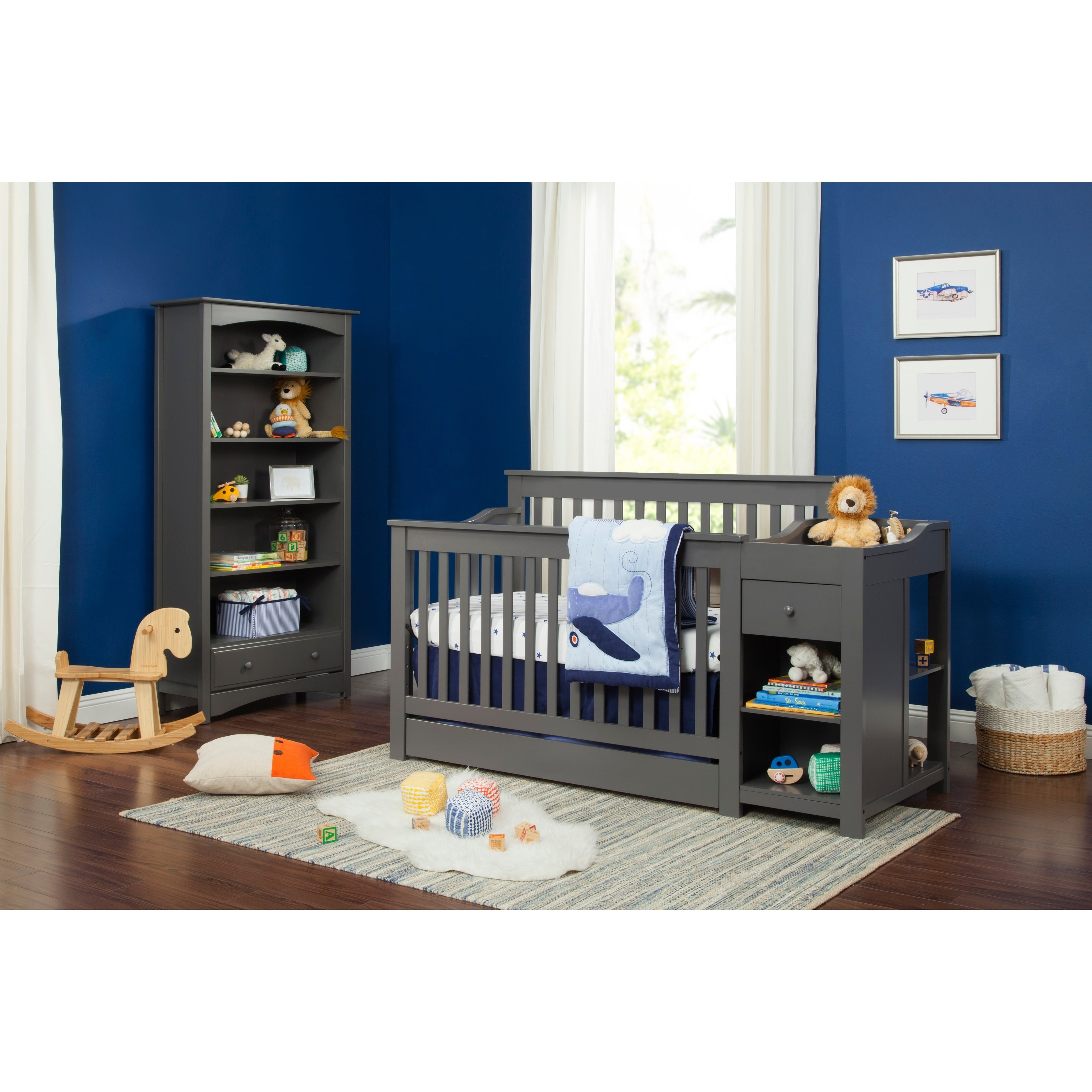 crib and combo in changer cherry daphne