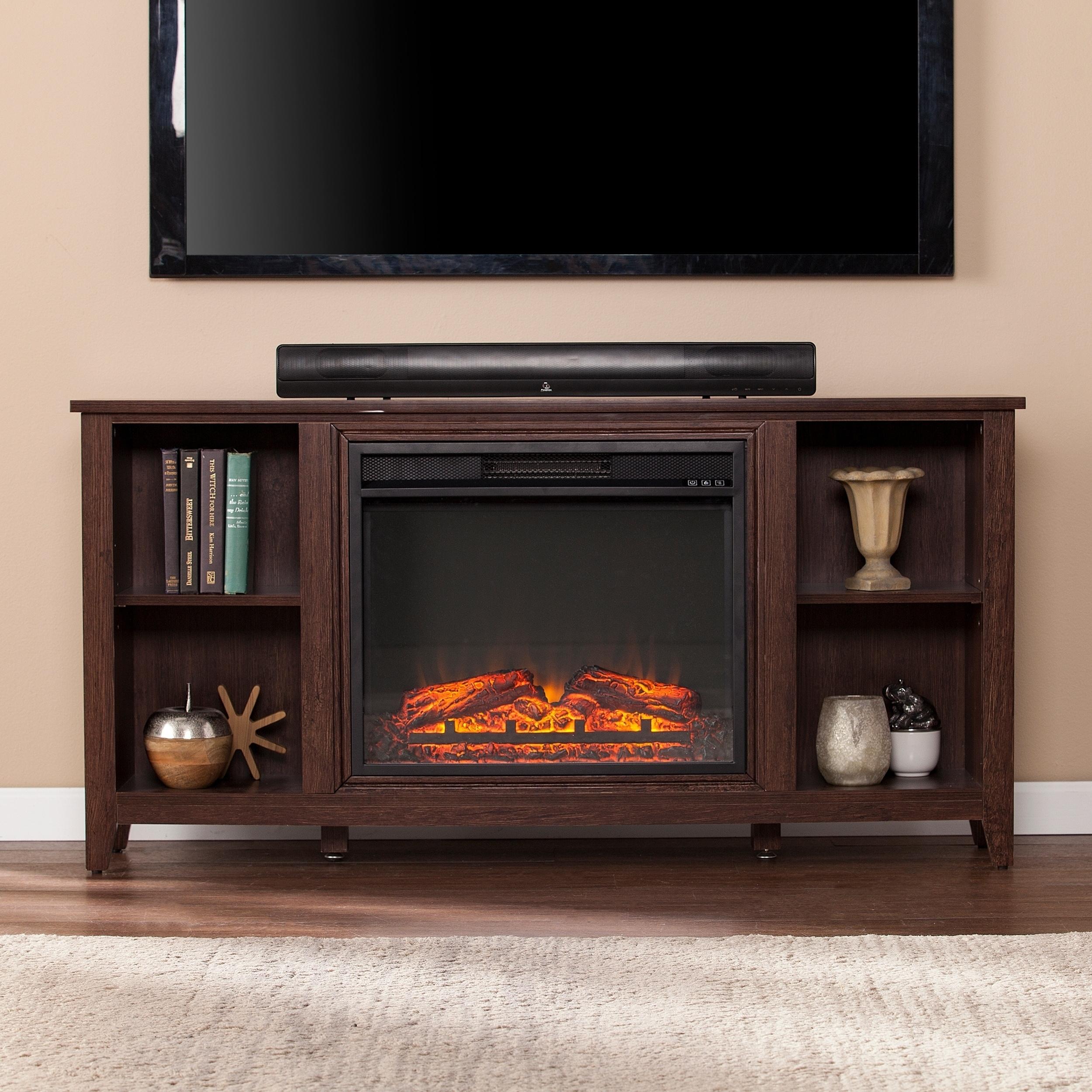 tv oak pressroom las sargent lasvegas summer with electric stand media fireplace center