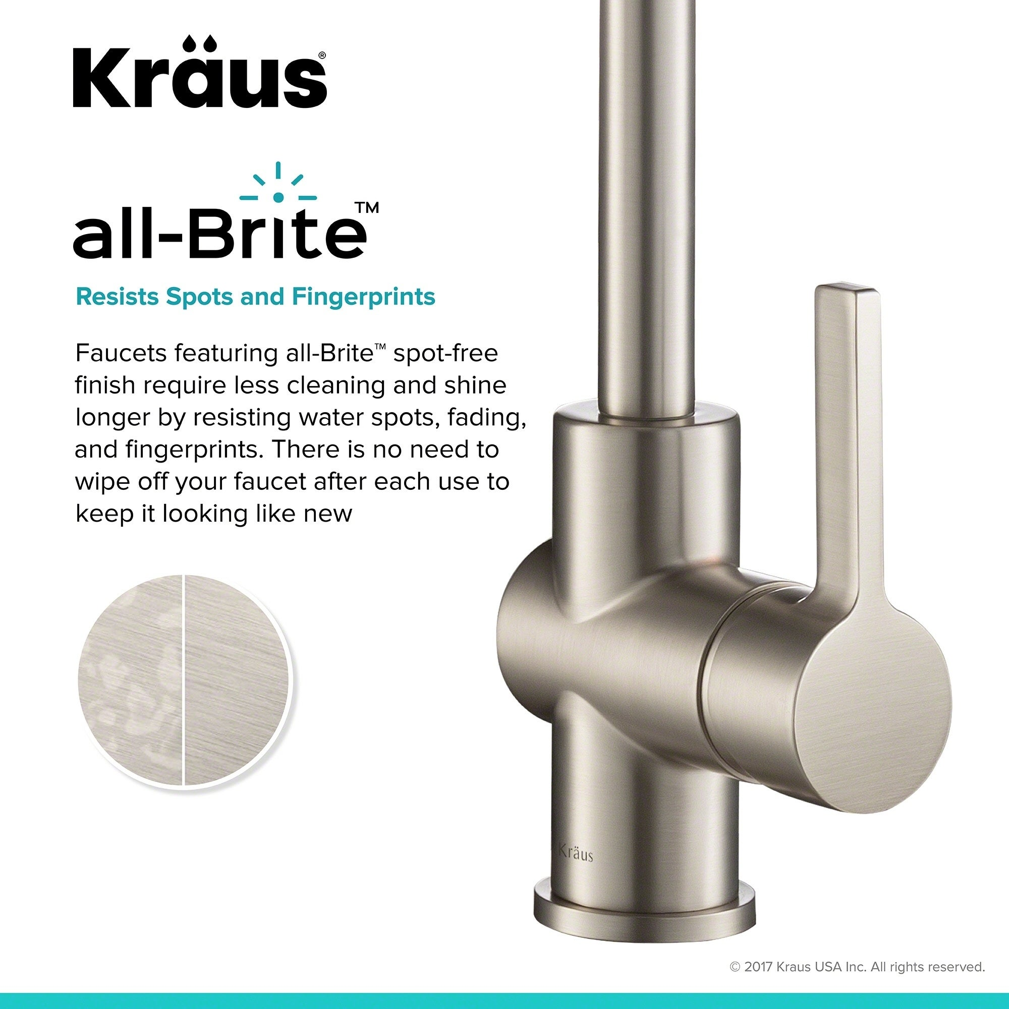 Shop KRAUS Britt Single Handle Kitchen Faucet With Dual Function Sprayhead  In All Brite Spot Free Stainless Steel Finish   Free Shipping Today ...