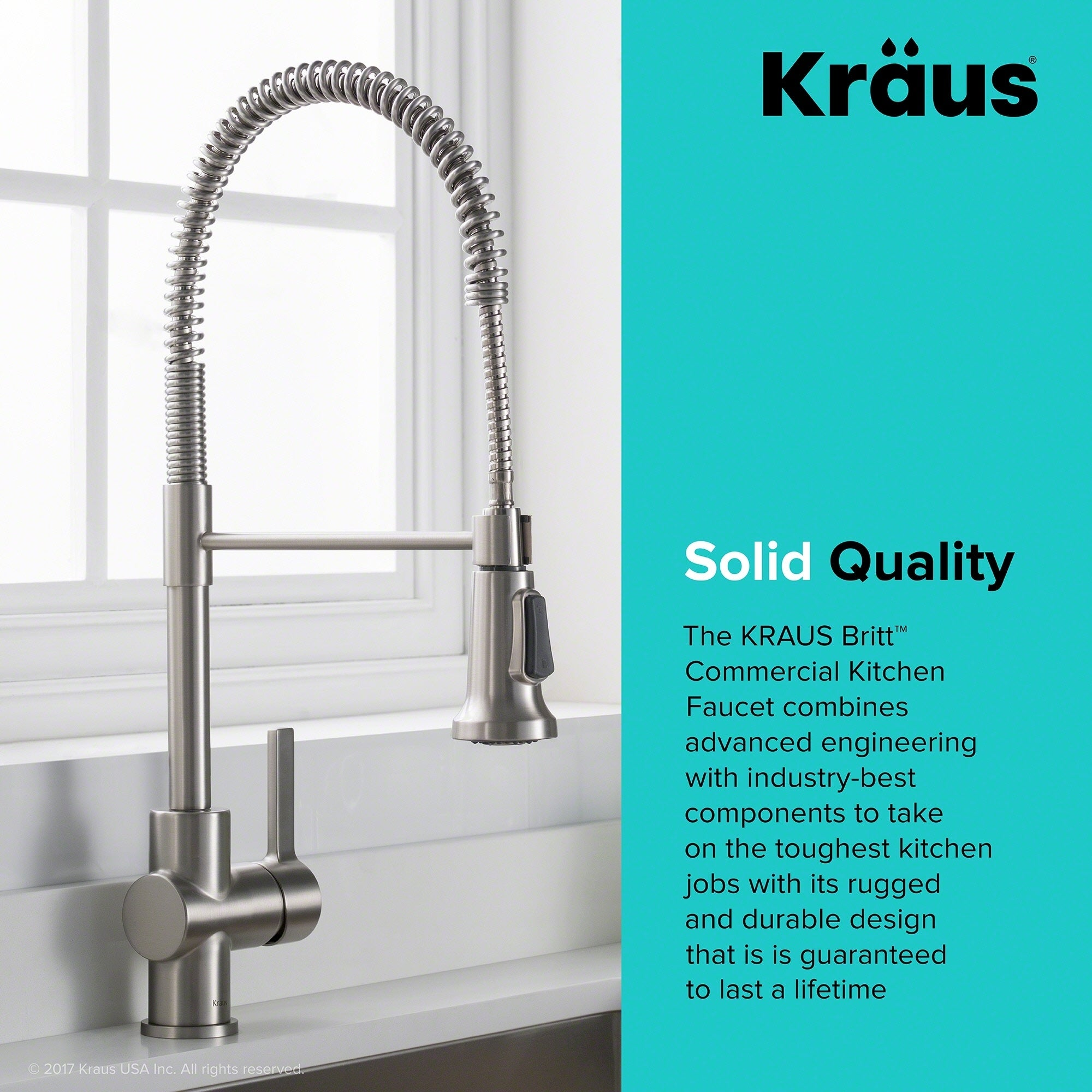 Shop KRAUS Britt Single Handle Kitchen Faucet with Dual Function ...