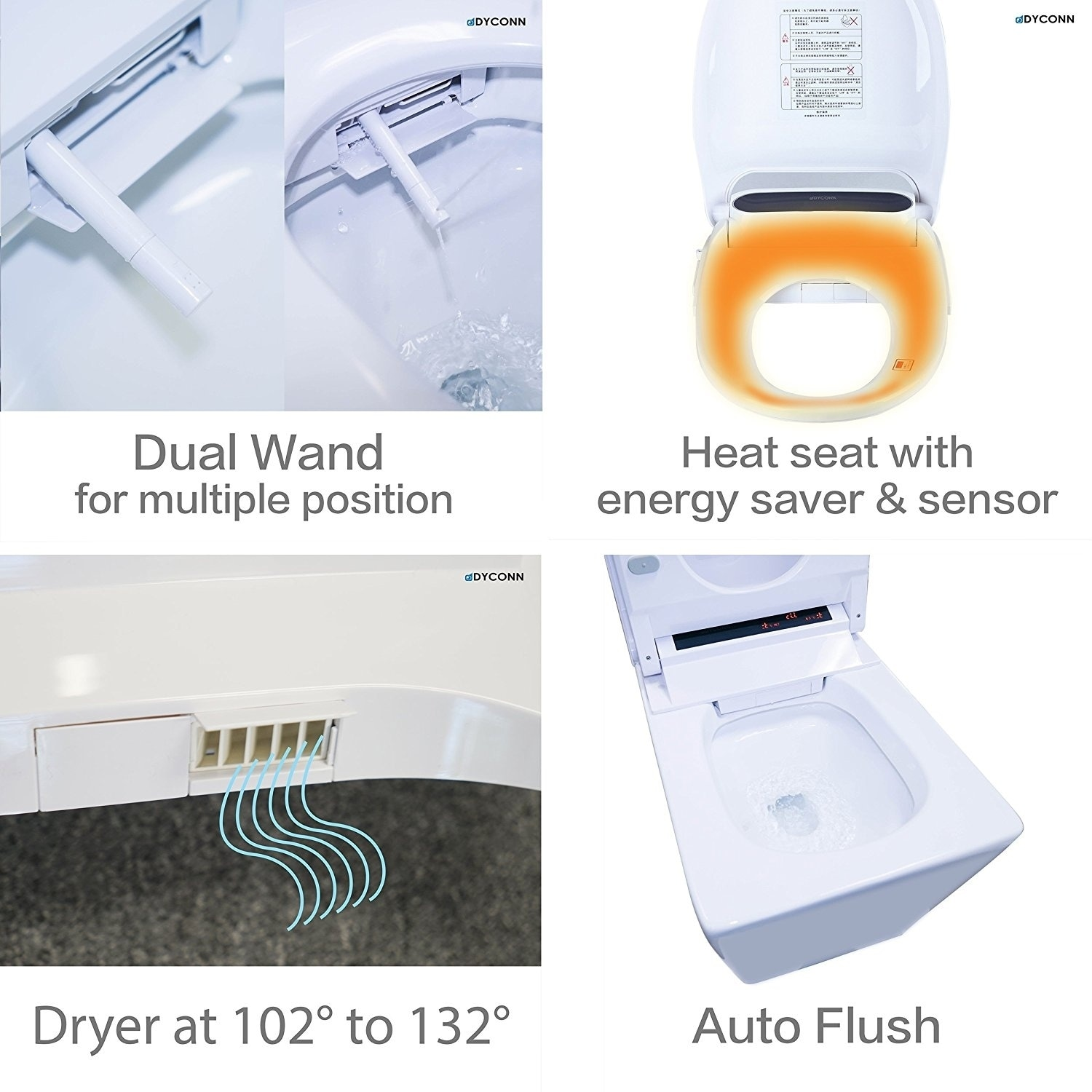 Shop Dyconn Faucet Arial Tankless All In One Combo Bidet & Smart ...