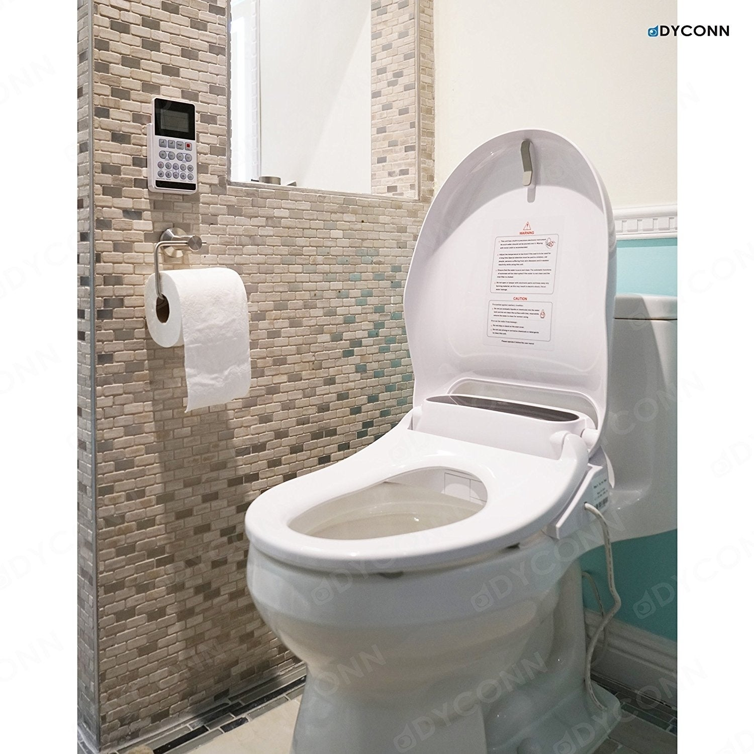 Shop Dyconn Faucet Automatic Bidet Toilet Seat With Anti-Microbial ...
