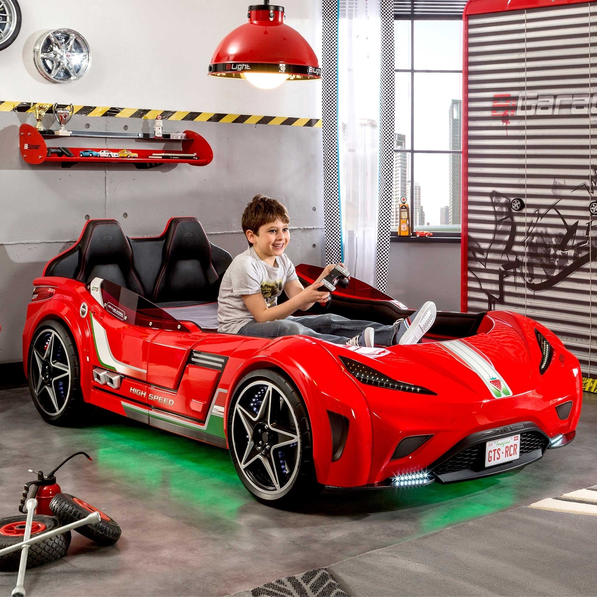Shop Cilek Gts Twin Race Car Bed Free Shipping Today Overstock