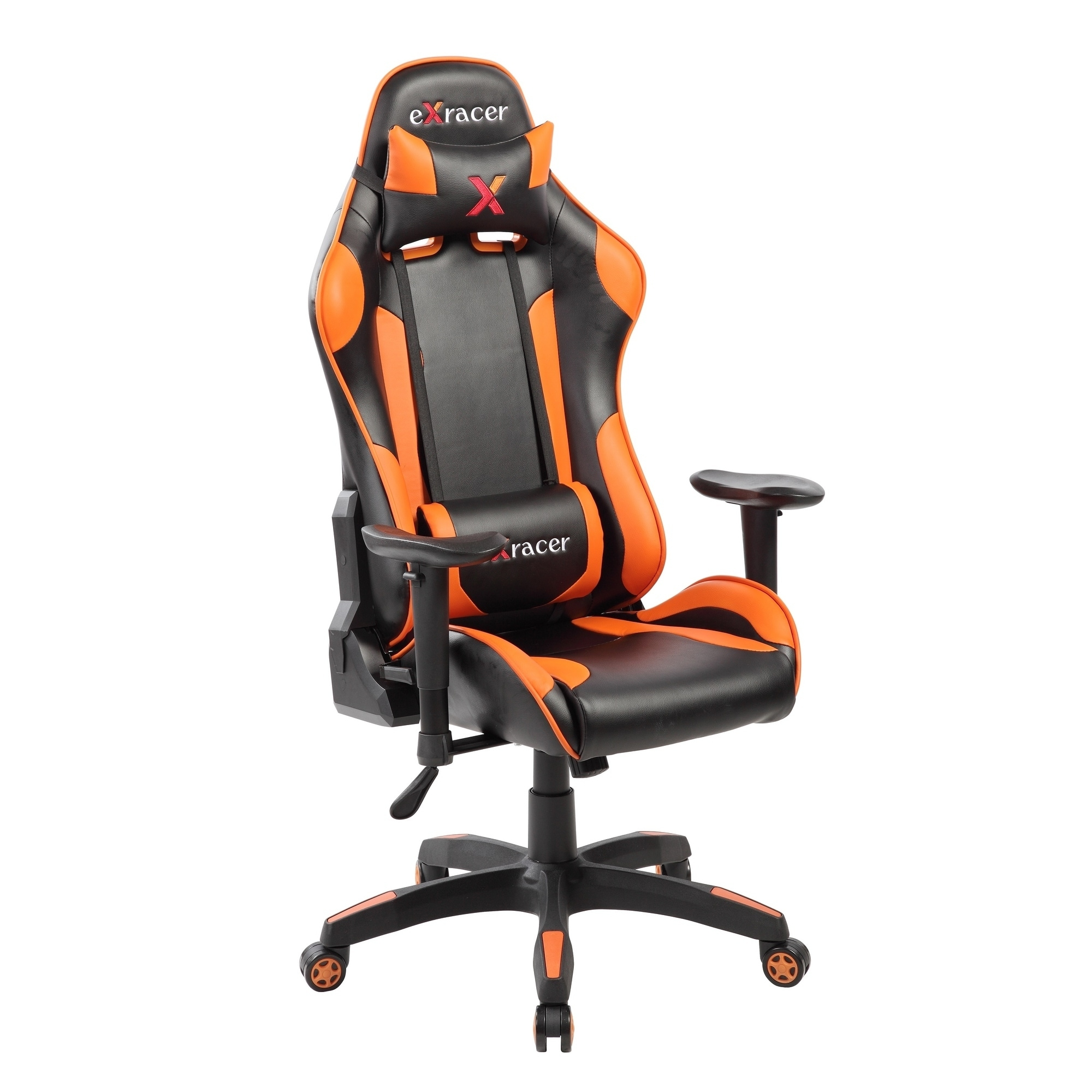Charmant Shop Adjustable High Back Racing Ergonomic Gaming Computer Chair With  Lumbar Support   Free Shipping Today   Overstock.com   19502640