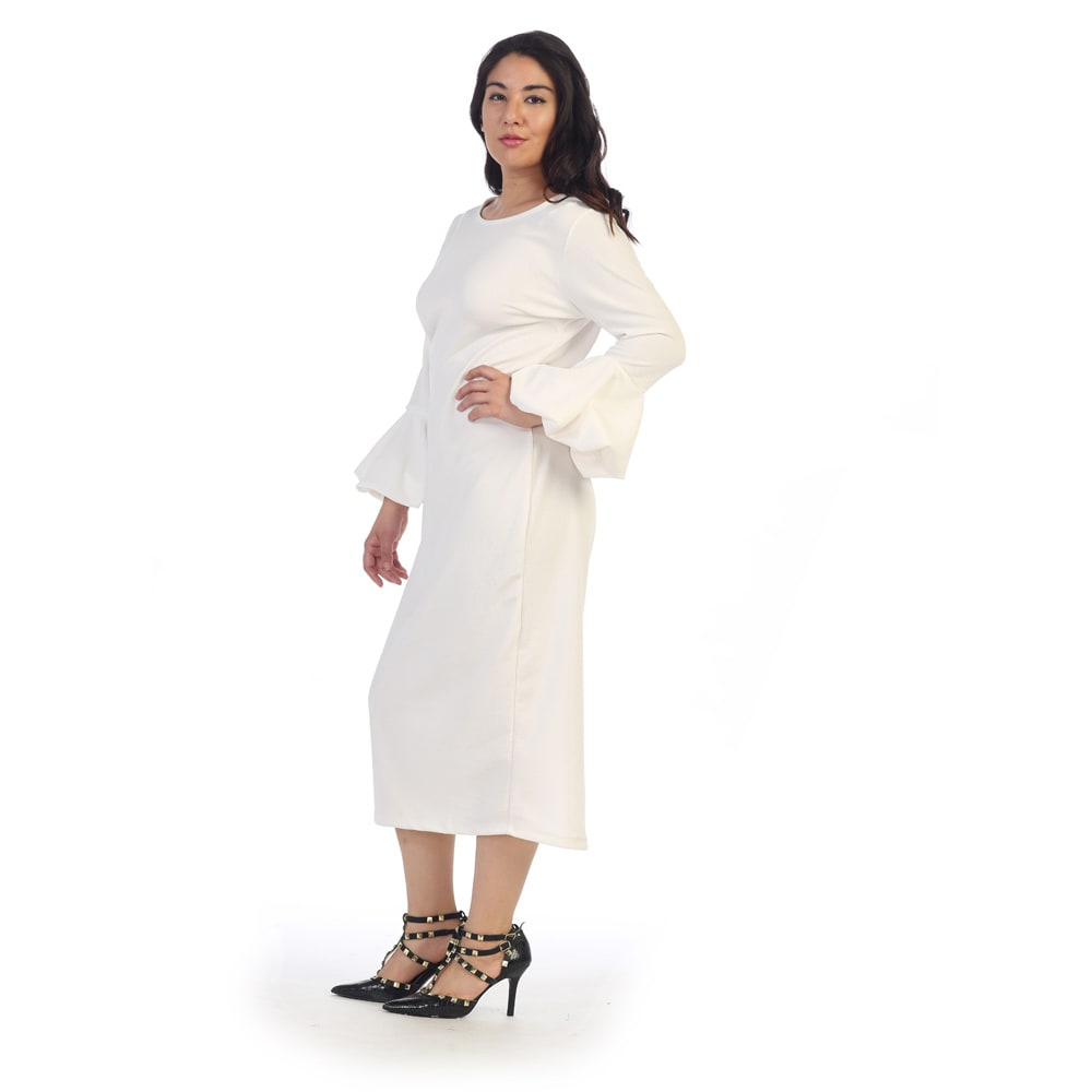 Shop Ruffle Bell Sleeve Plus Size Dress - Free Shipping Today ...