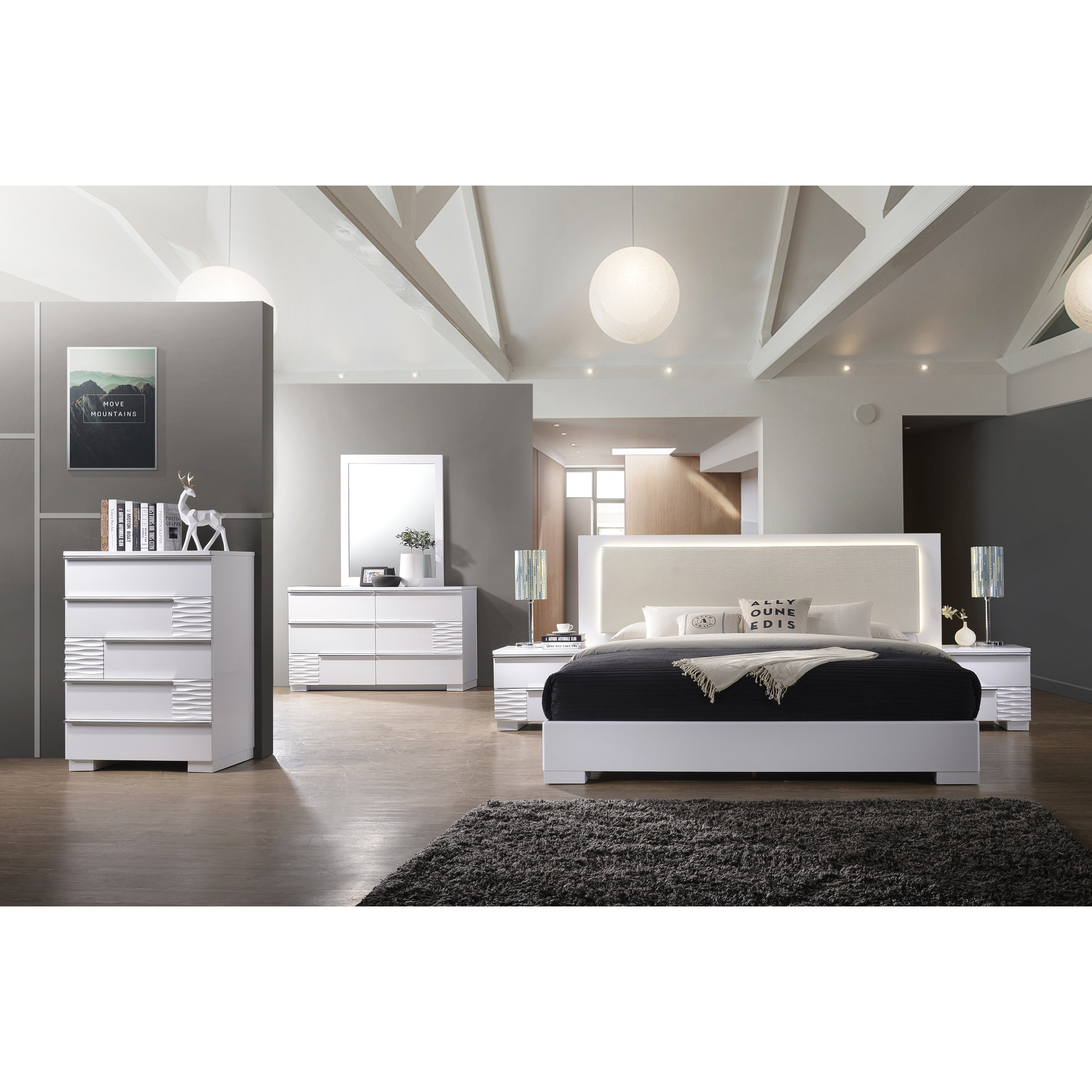 Shop Best Master Furniture Athens White 5 Drawer Chest   Free Shipping  Today   Overstock.com   19506994