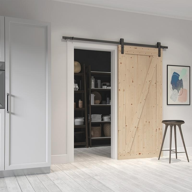 Farm Style Sliding Door Unfinished With Hardware Kit Free Shipping Today 19507162