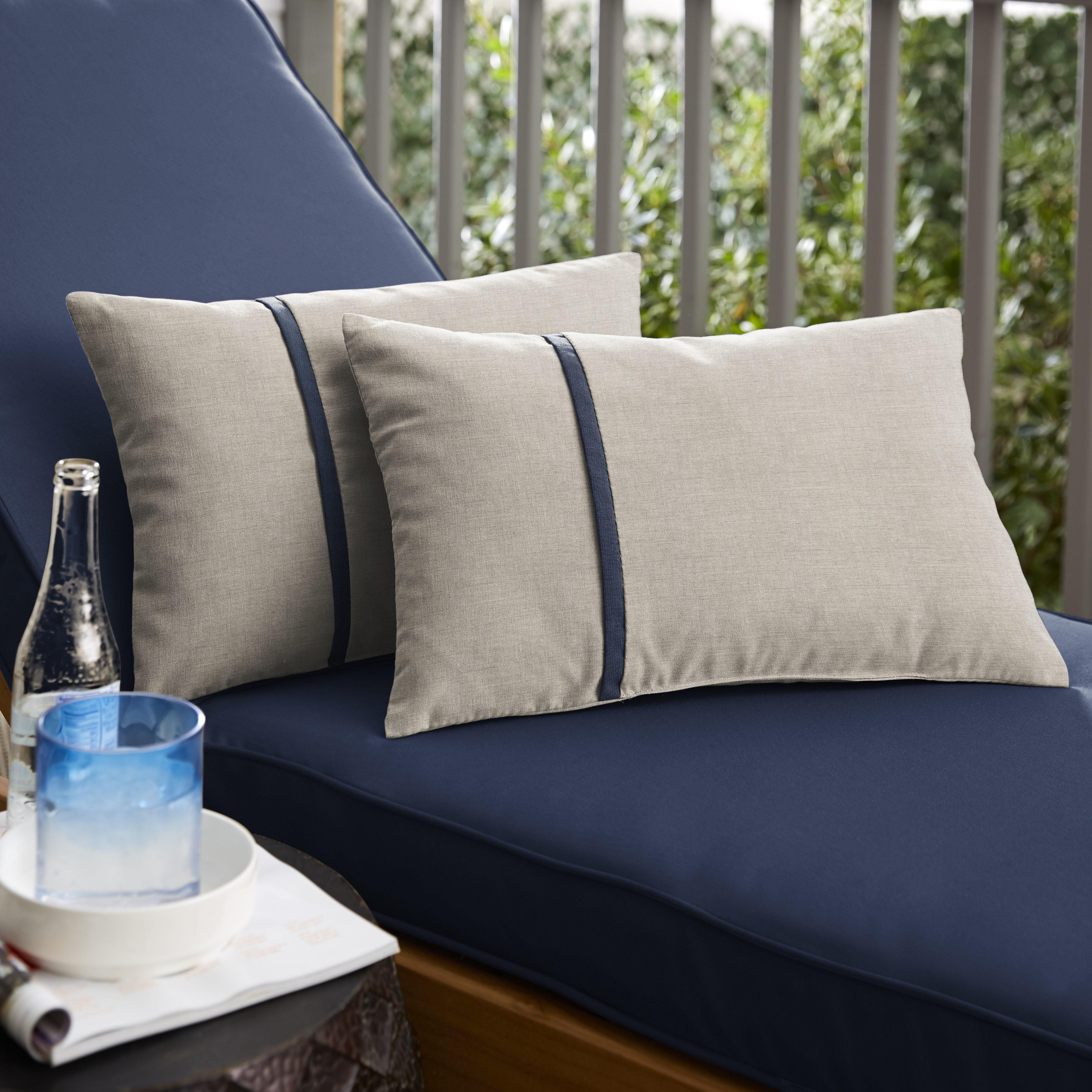 Sunbrella Cast Silver Spectrum Indigo Indoor Outdoor Lumbar Pillow Set Of 2