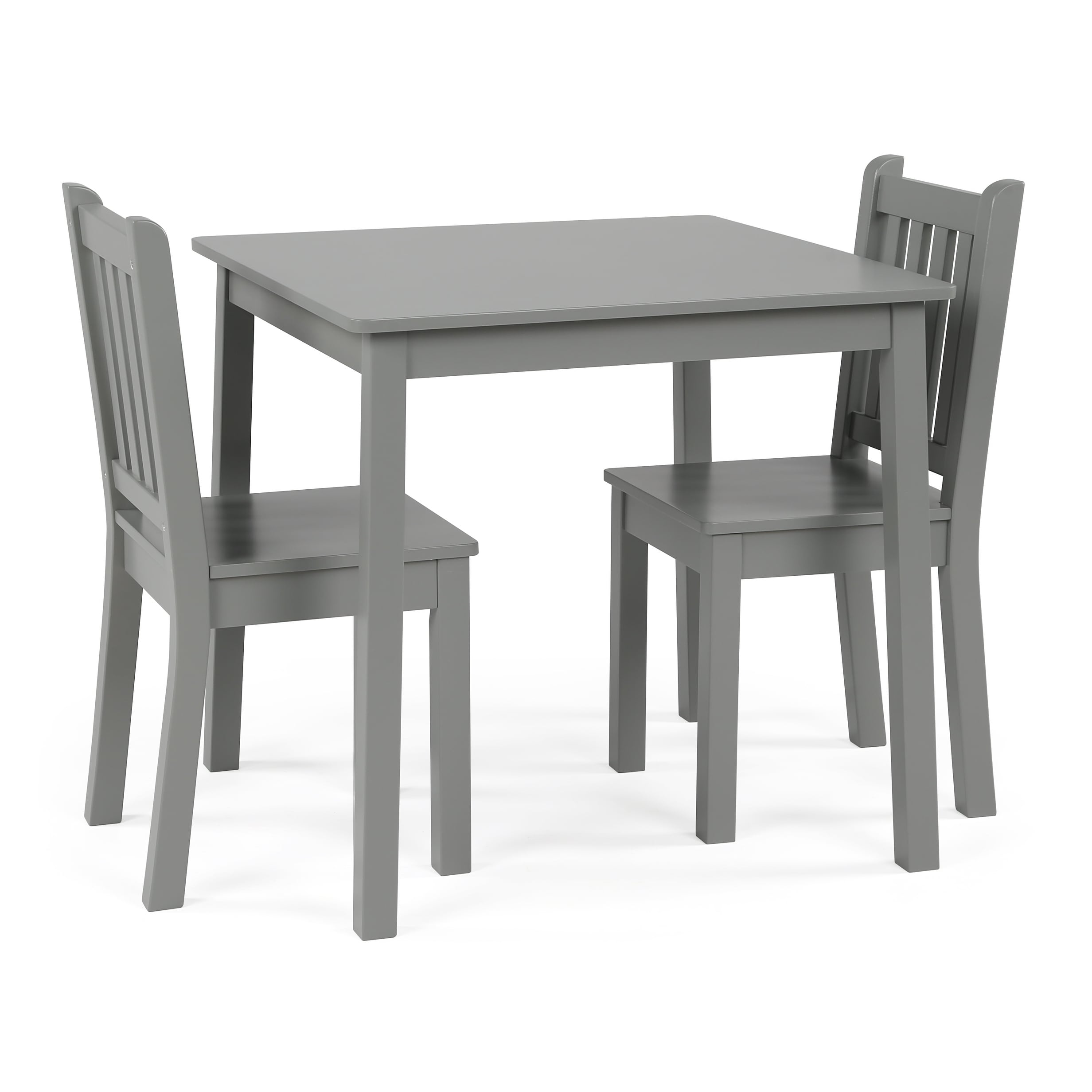 Shop Wood Kids Table U0026 Chairs 3 Piece Set, Grey   Free Shipping Today    Overstock.com   19508685