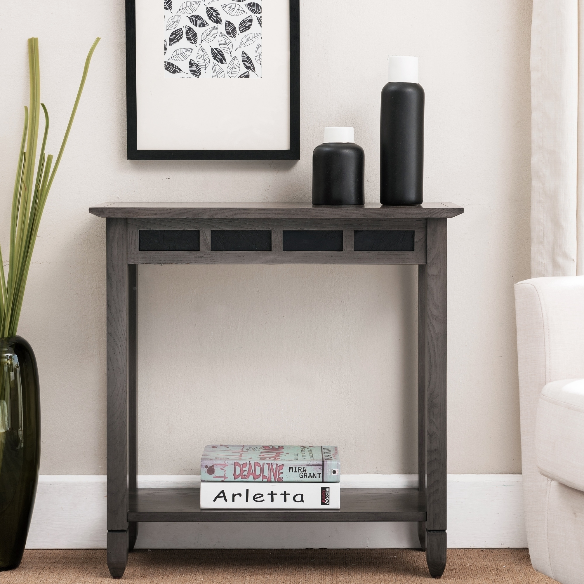 Grey Wood Hall Console Table Free Shipping Today 19510765