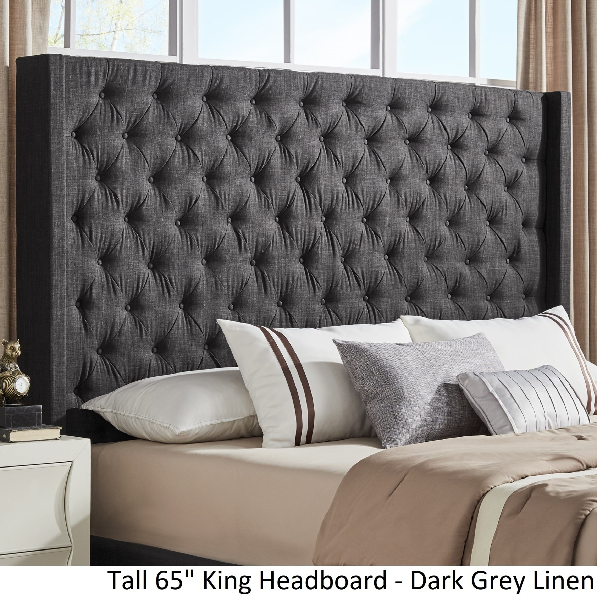 with headboard upholstered zoom size wingback queen il nailheads tufted fullxfull brass listing