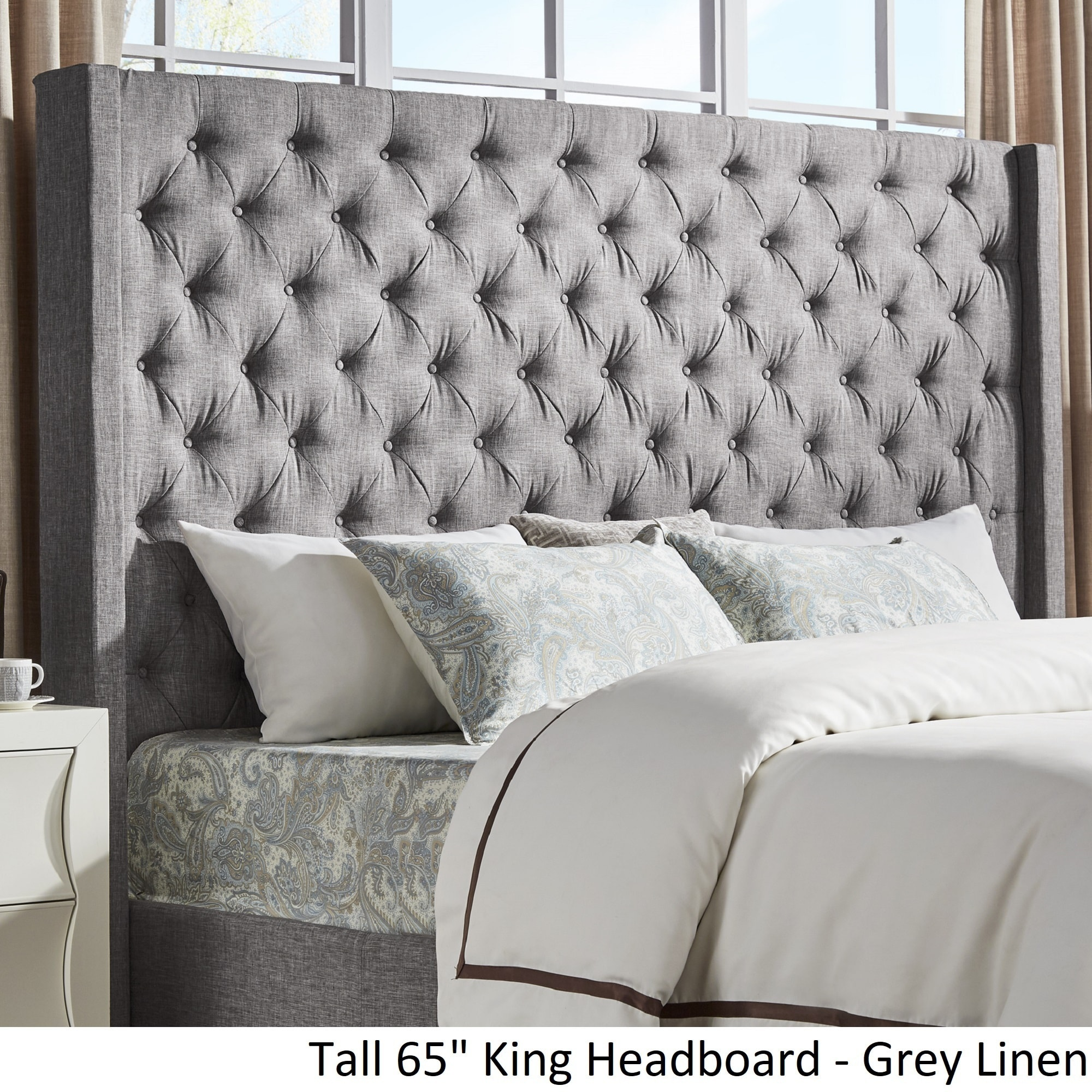 Naples Wingback On Tufted Tall Headboards By Inspire Q Free Shipping Today 25504309