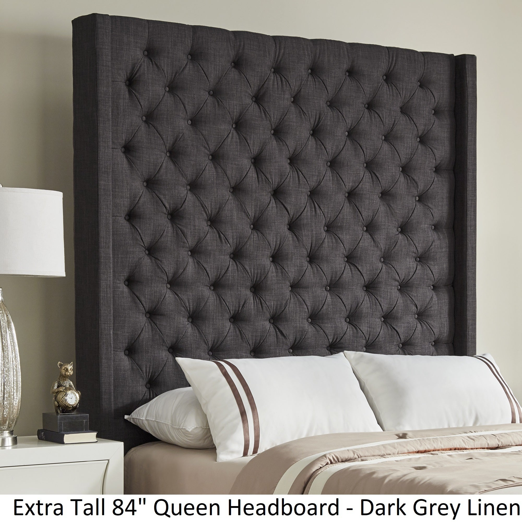 Naples Wingback On Tufted Tall Headboards By Inspire Q Free Shipping Today 19511535