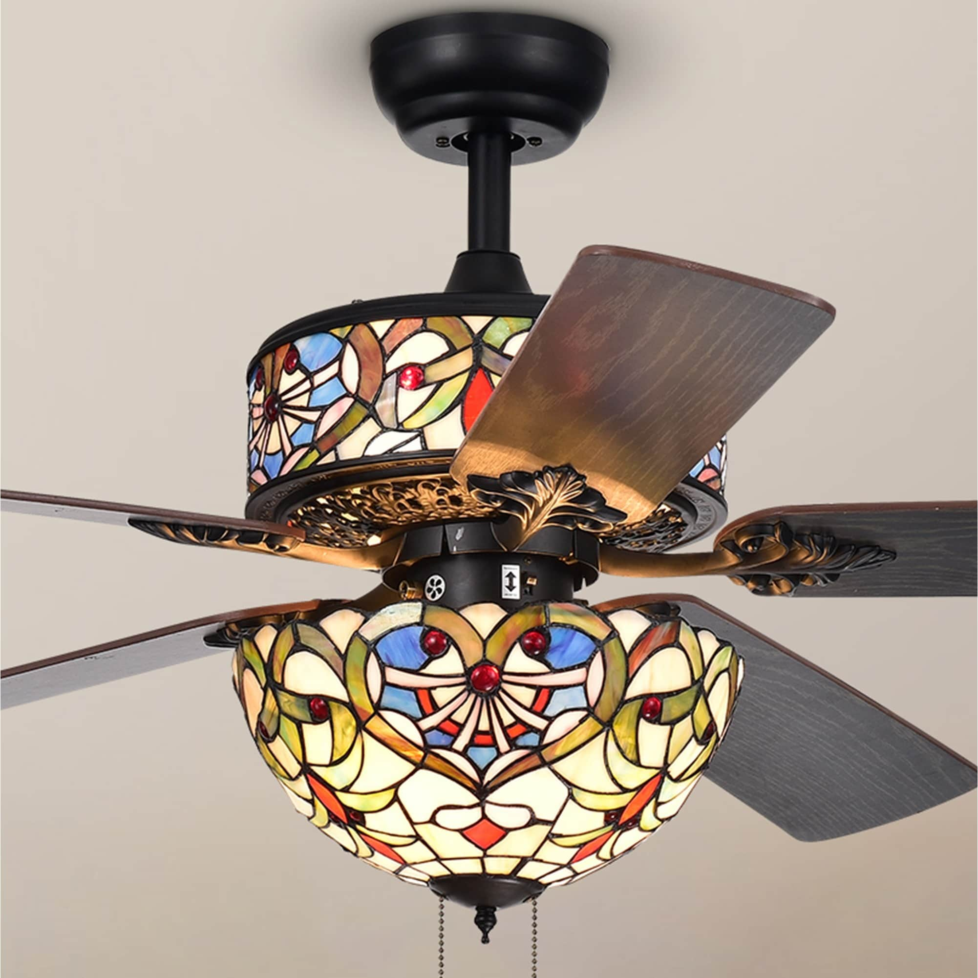 kit modern tiffany design decorative light ceiling fan image of designs style
