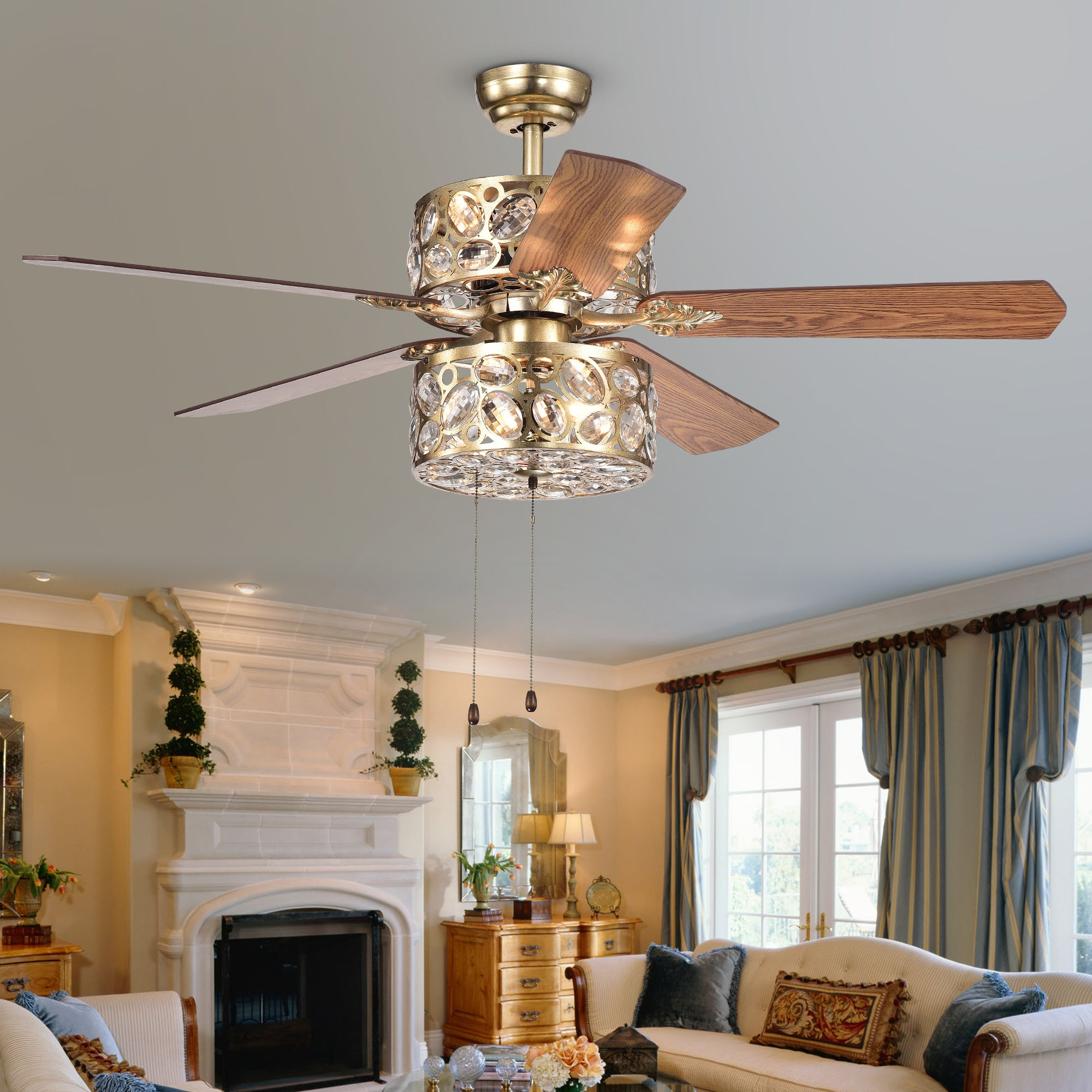 with adcf fan ceiling chrysaor light inch com ip walmart brown chandelier crystal blade