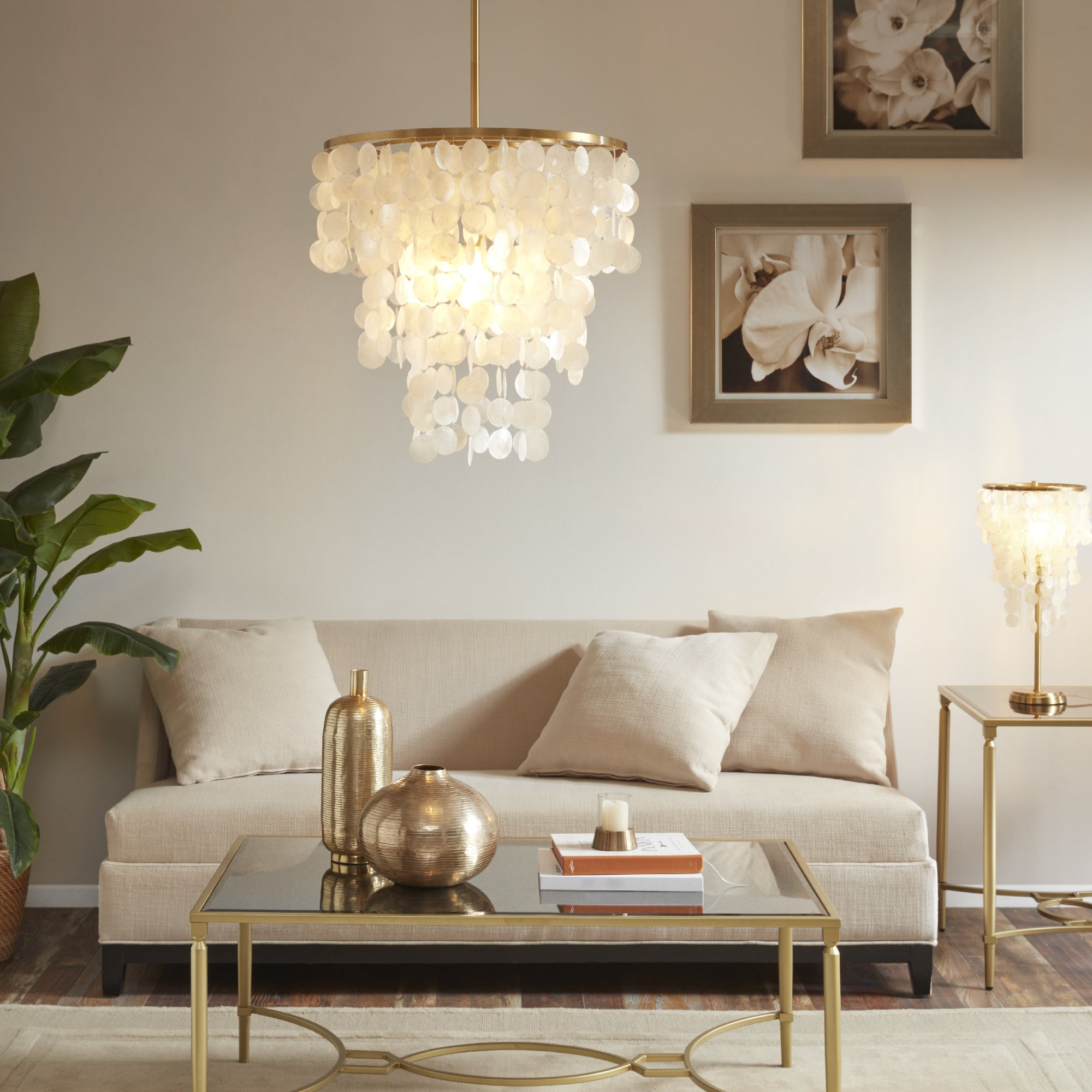 Madison Park Signature Isla White Chandelier - Free Shipping Today ...
