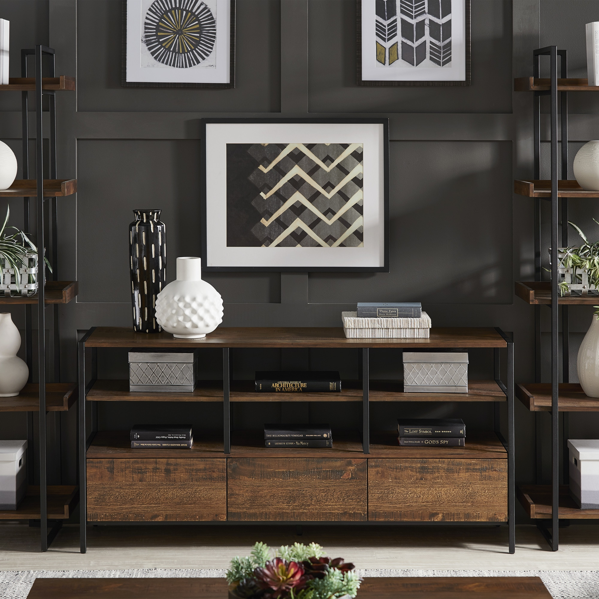 Corey Rustic Brown TV Stand Console Tables by iNSPIRE Q Modern - Free  Shipping Today - Overstock.com - 25506046