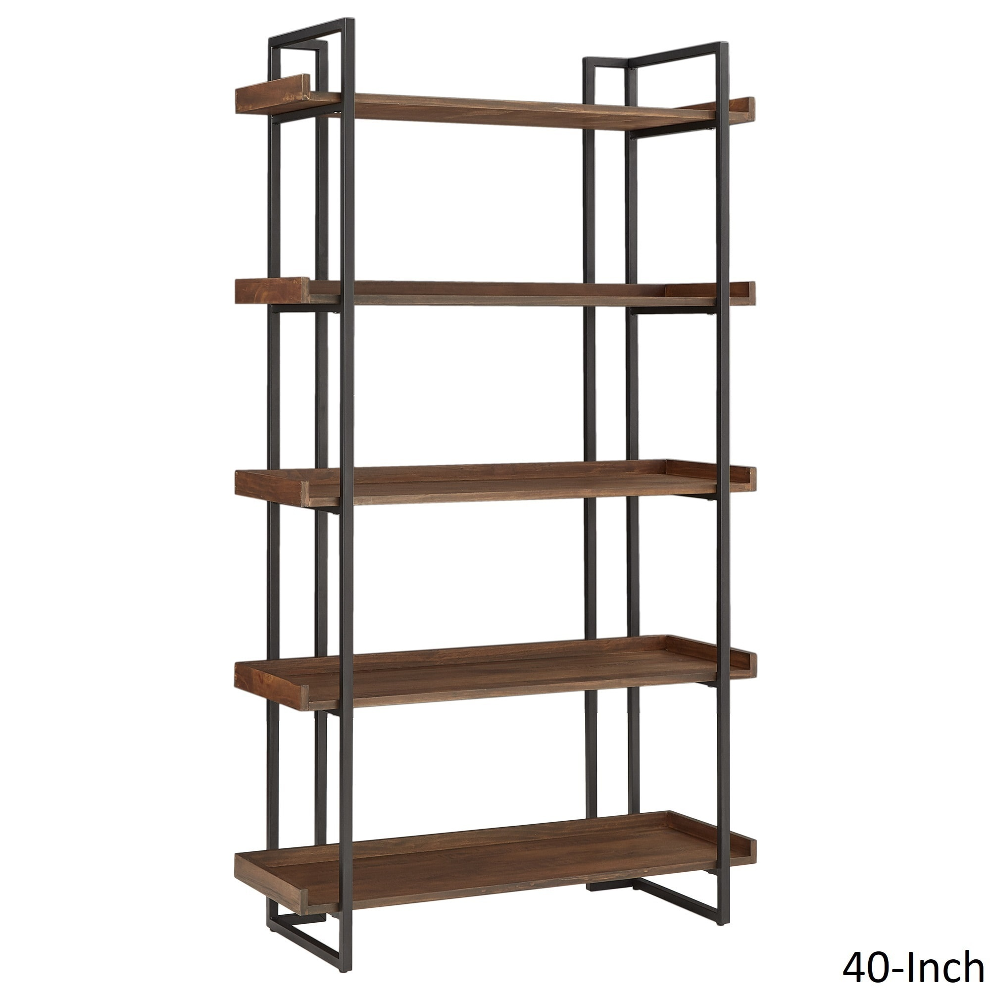 Corey Rustic Brown Etagere Bookcases By Inspire Q Modern Free Shipping Today