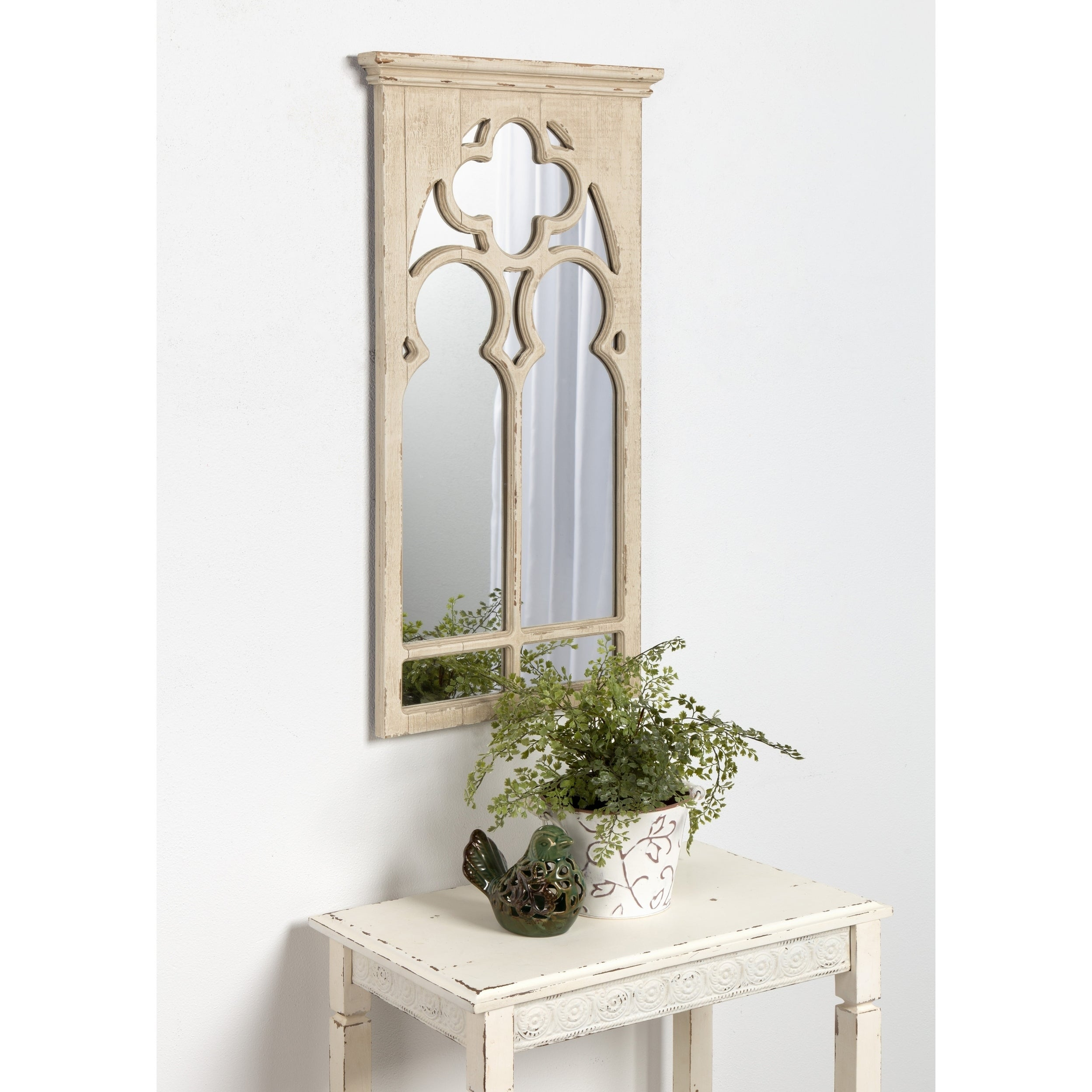 Shop Kate and Laurel Mirabela Arch Framed Wall Mirror, White - On ...
