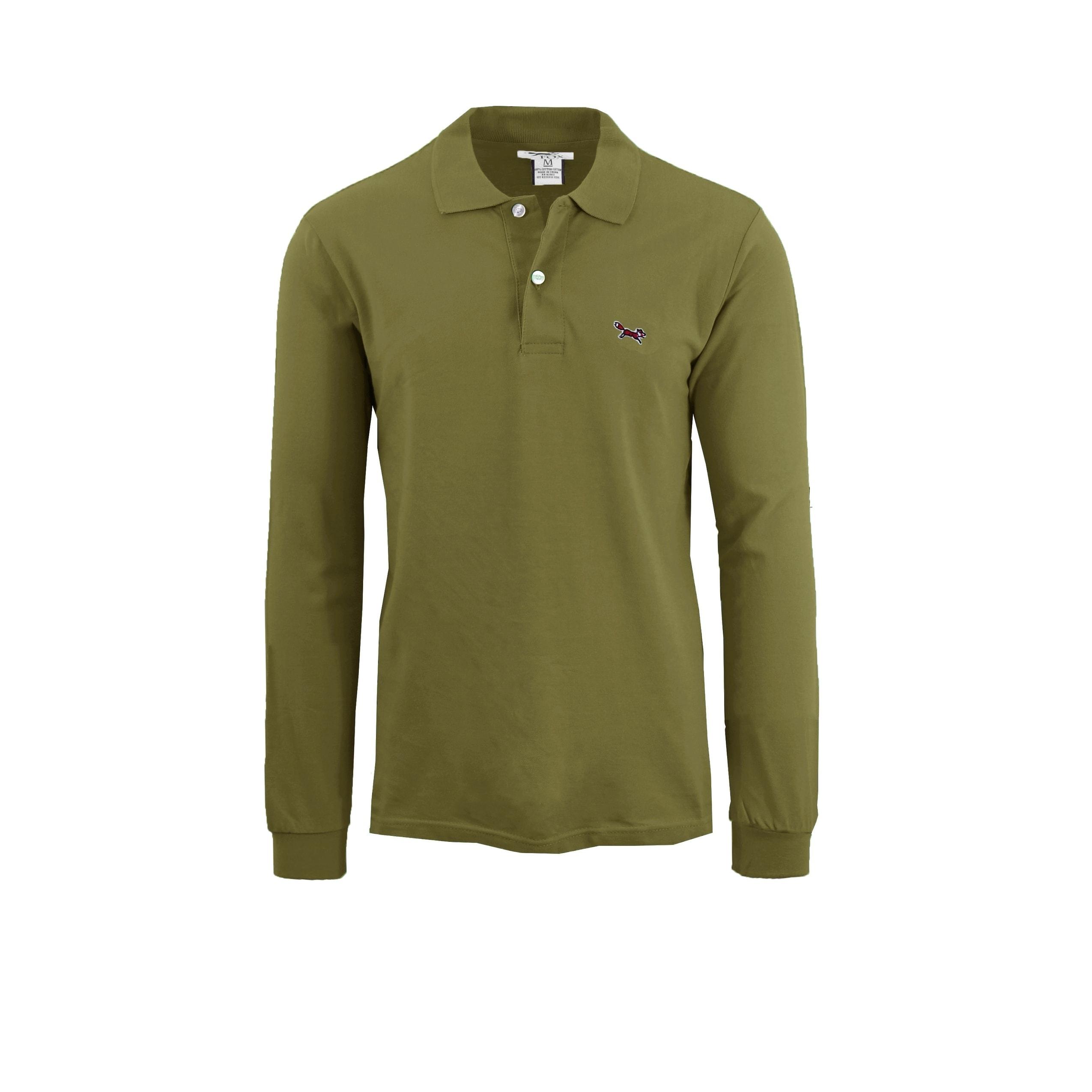 Shop Mens Long Sleeve Long Tail Polo Shirts On Sale Free