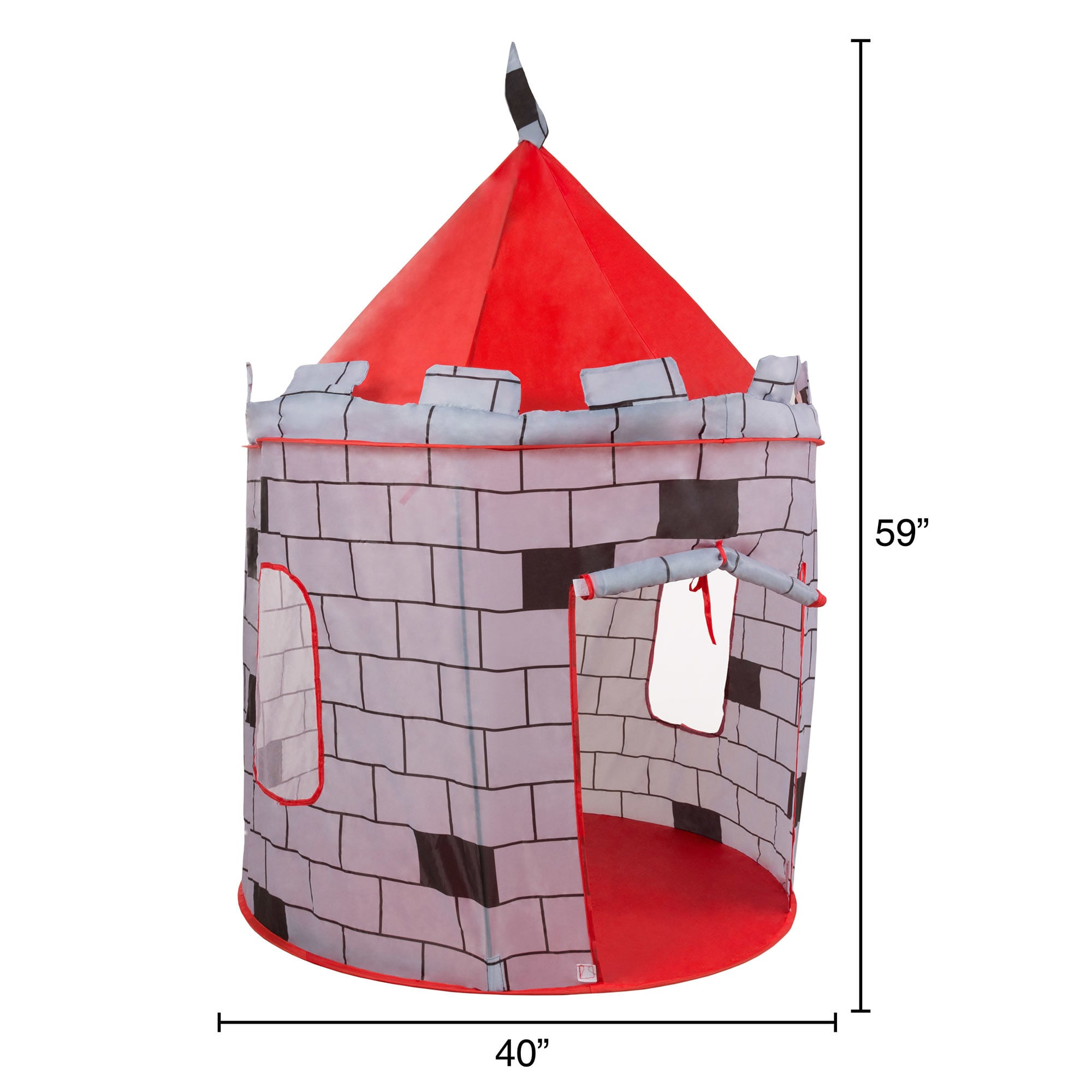 Shop Kids Play Tent Knight Castle- Pop Up for Indoor/Outdoor Red and Gray Playroom Toy- Foldable with Carrying Bag by Hey! Play! - Free Shipping On Orders ...  sc 1 st  Overstock.com & Shop Kids Play Tent Knight Castle- Pop Up for Indoor/Outdoor Red ...