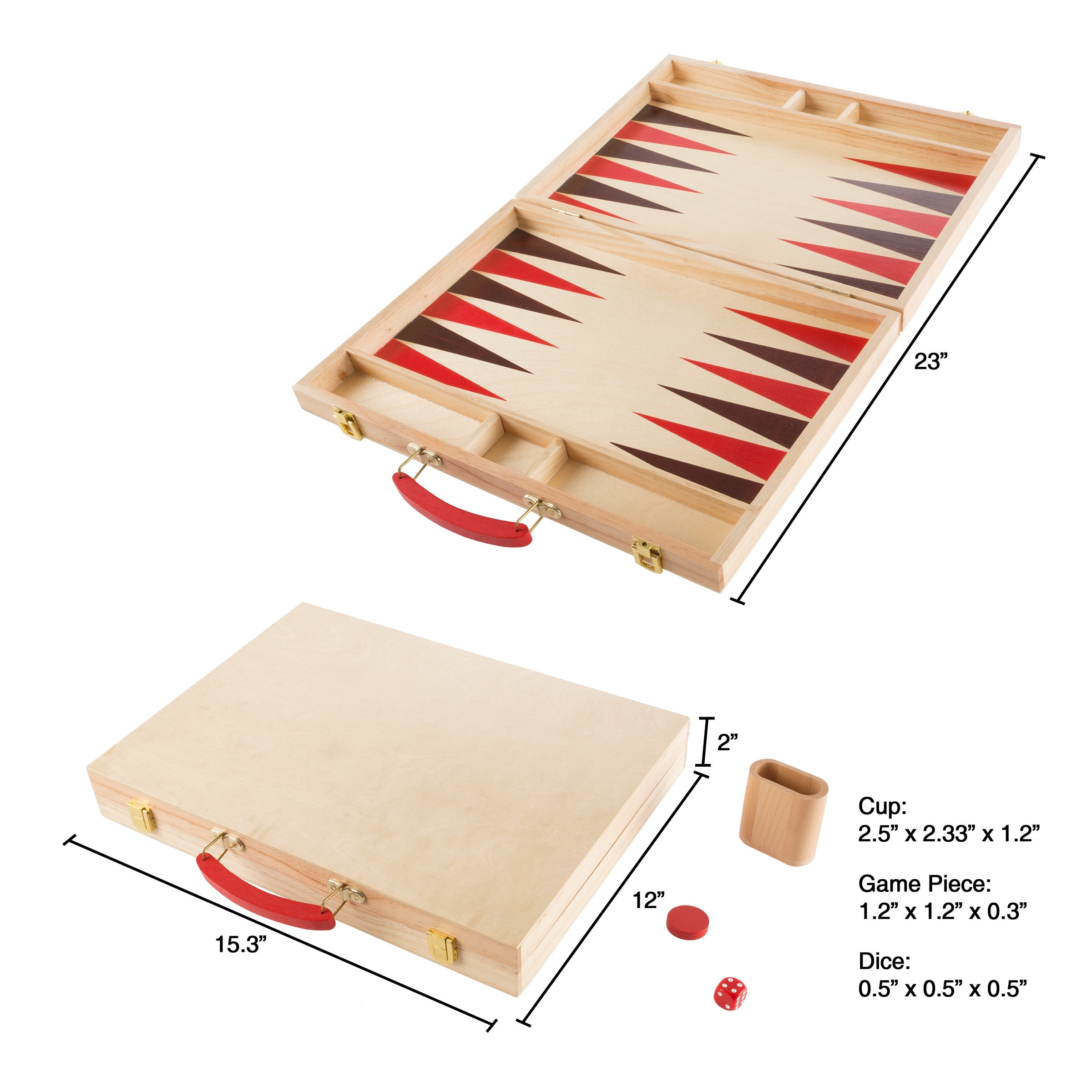 Shop Wood Backgammon Board Game Complete Set With Folding Board For