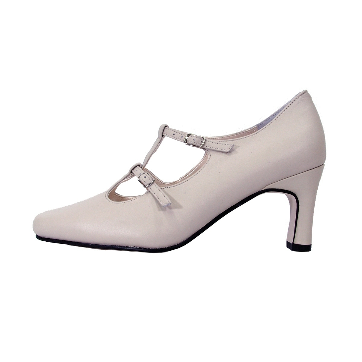 04f05ebfbb9c Shop PEERAGE Helena Women Extra Wide Width Leather Double Buckles Pumps -  Ships To Canada - Overstock - 19525411