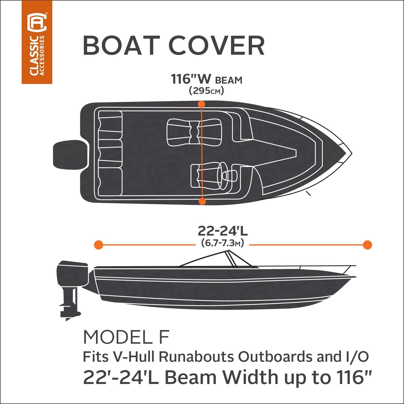 Shop Classic Accessories 88968 Stormpro Boat Cover 22 Feet To 24