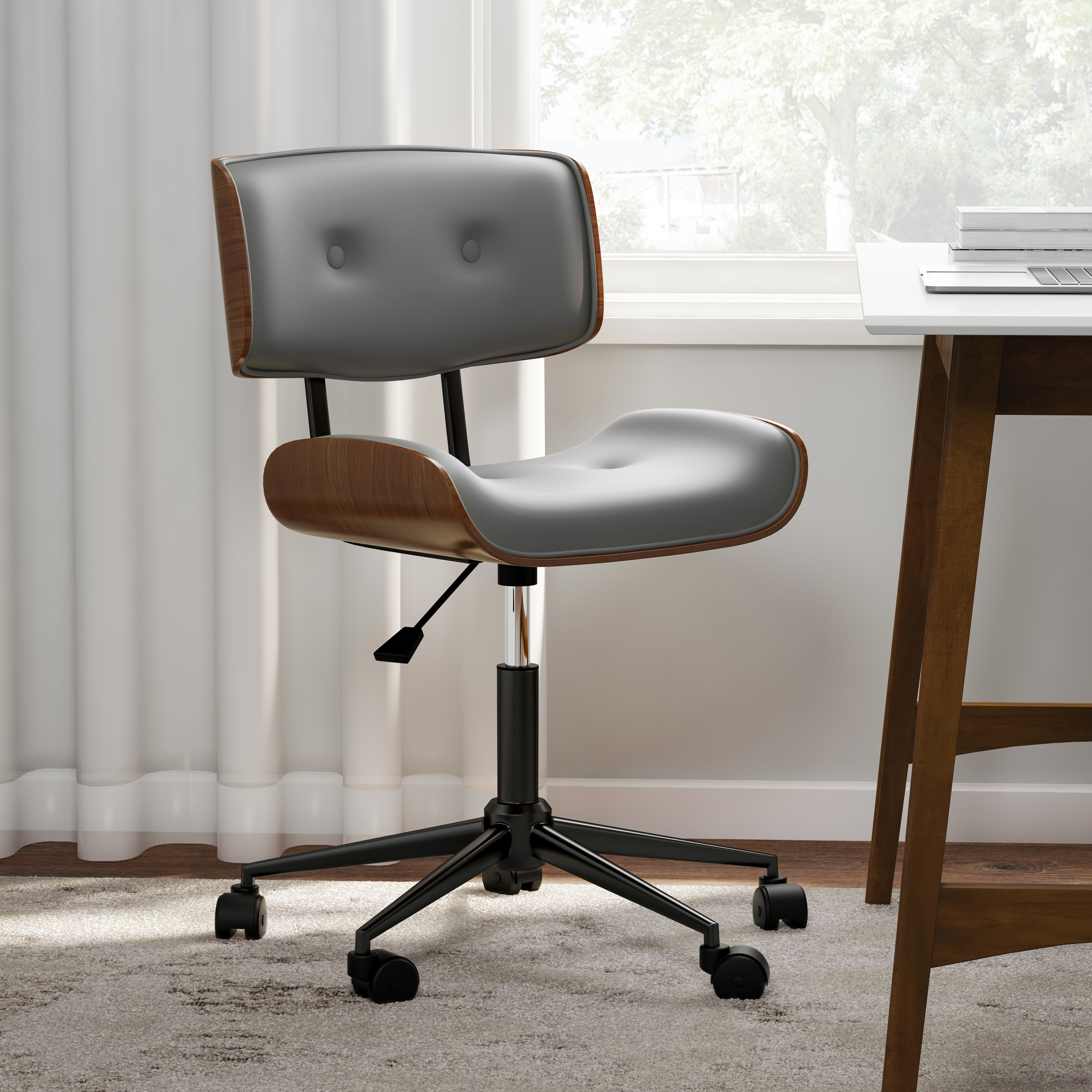 Shop carson carrington leksand simple mid century modern office chair free shipping today overstock com 19529717