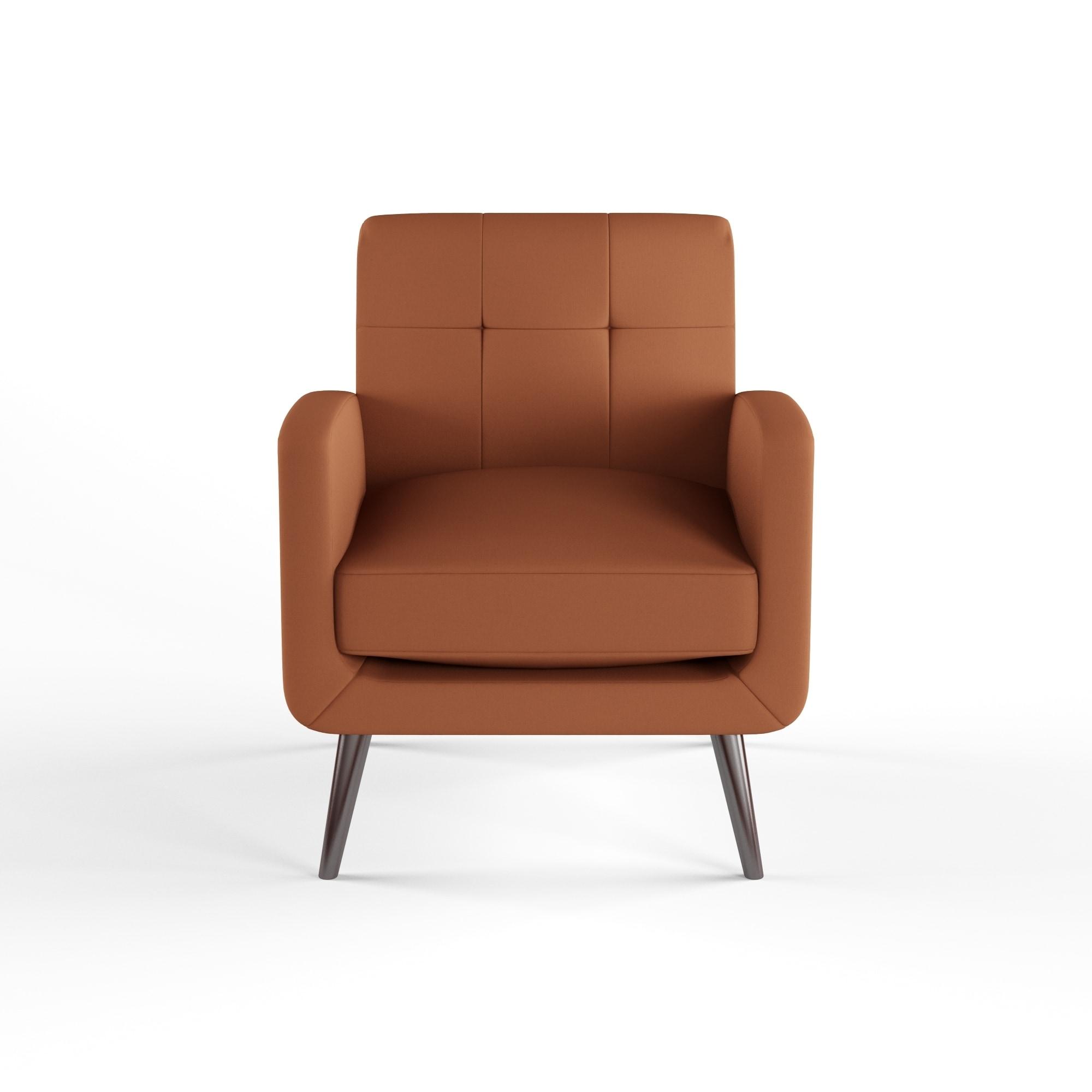 Etonnant Shop Carson Carrington Keflavik Mid Century Orange Linen Arm Chair   On  Sale   Free Shipping Today   Overstock.com   19529733