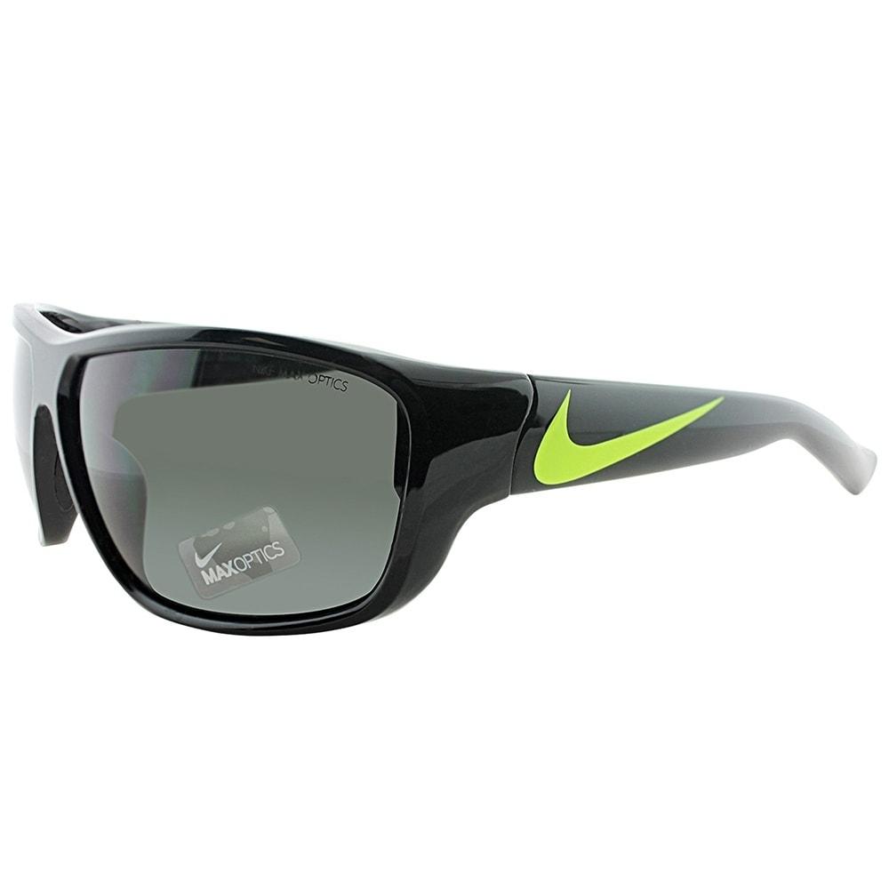 nike sport ev0781 mercurial 80 071 unisex black voltage yellow frame grey gradient lens sunglasses free shipping today overstockcom 25521434 - Yellow Frame Sunglasses
