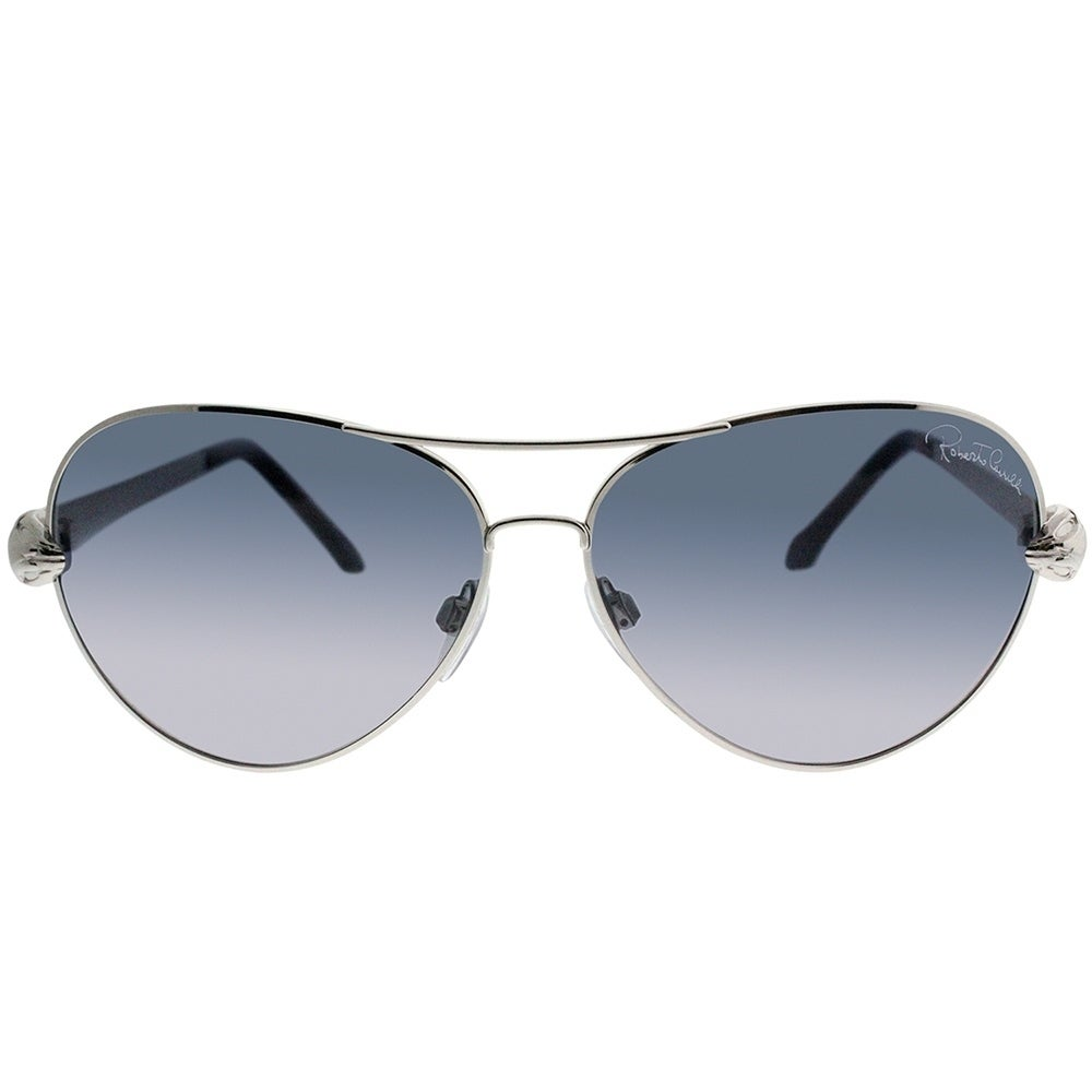 12f826599ce7 Shop Roberto Cavalli Aviator RC 884S Matar 16B Women Silver Frame Grey  Gradient Lens Sunglasses - Free Shipping Today - Overstock - 19530889