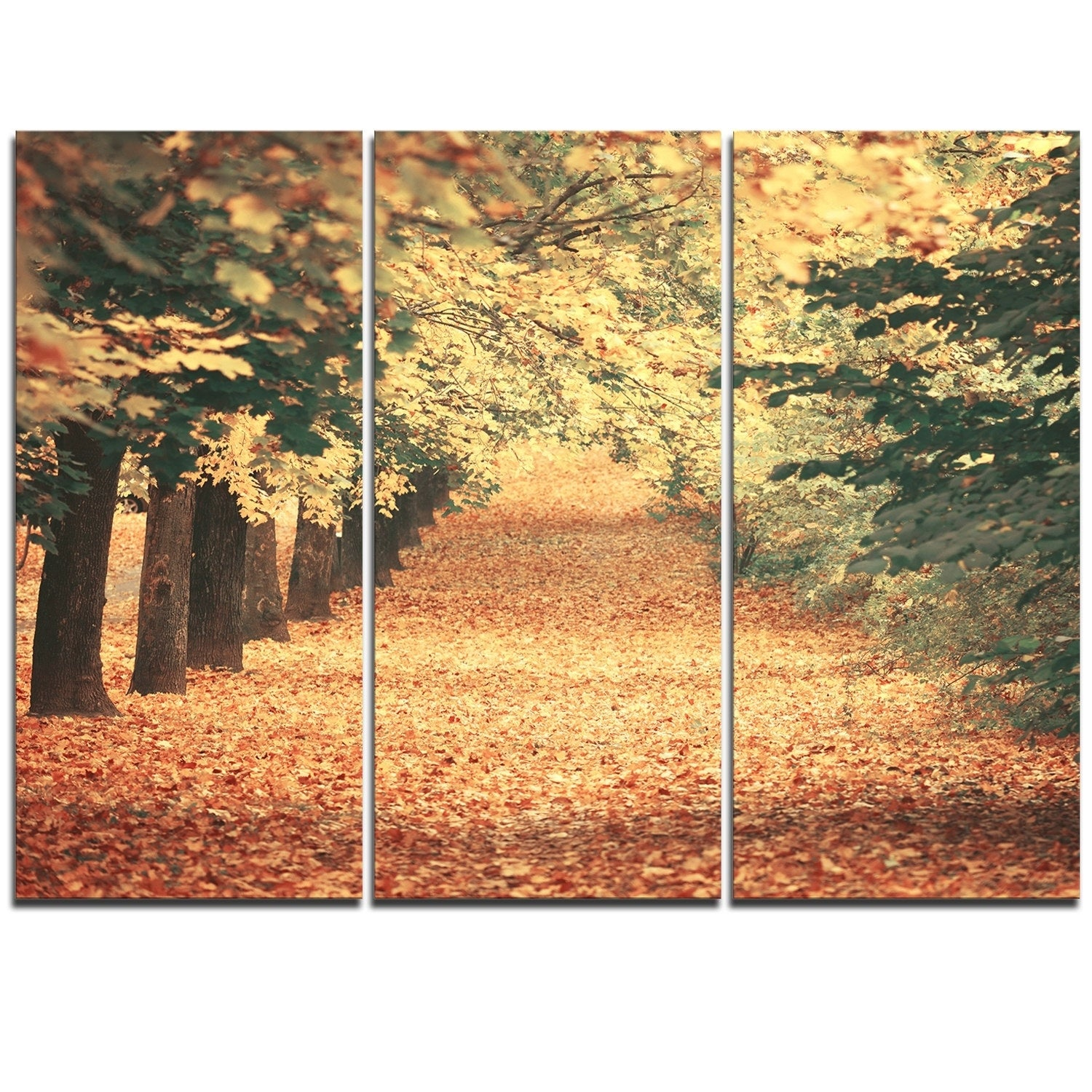 Pretty Autumn Leaves Metal Wall Decor Images - The Wall Art ...