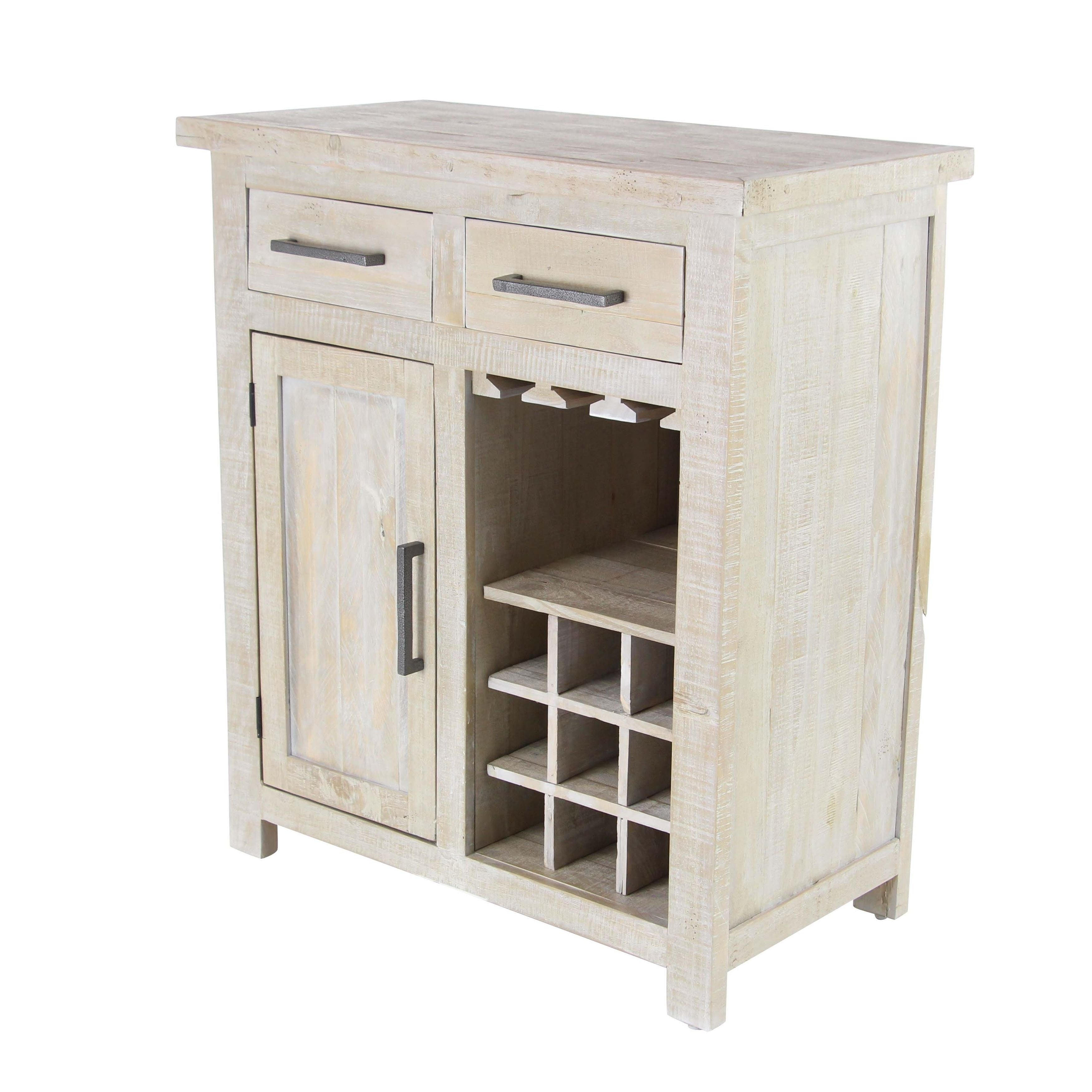 overstock rustic garden wood shipping wine white cabinet pine studio and today home product with bottle rack drawers free
