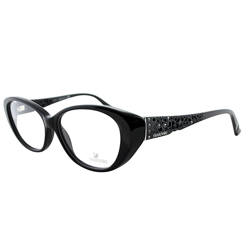 dcb8f3605197 Swarovski Cat-Eye SK 5083 001 Women Shiny Black Frame Eyeglasses