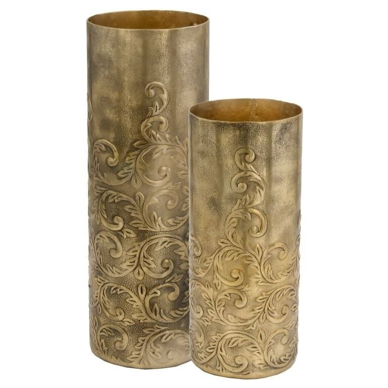 Shop Cachemir Lg Antgold Cylinder Vase Free Shipping Today
