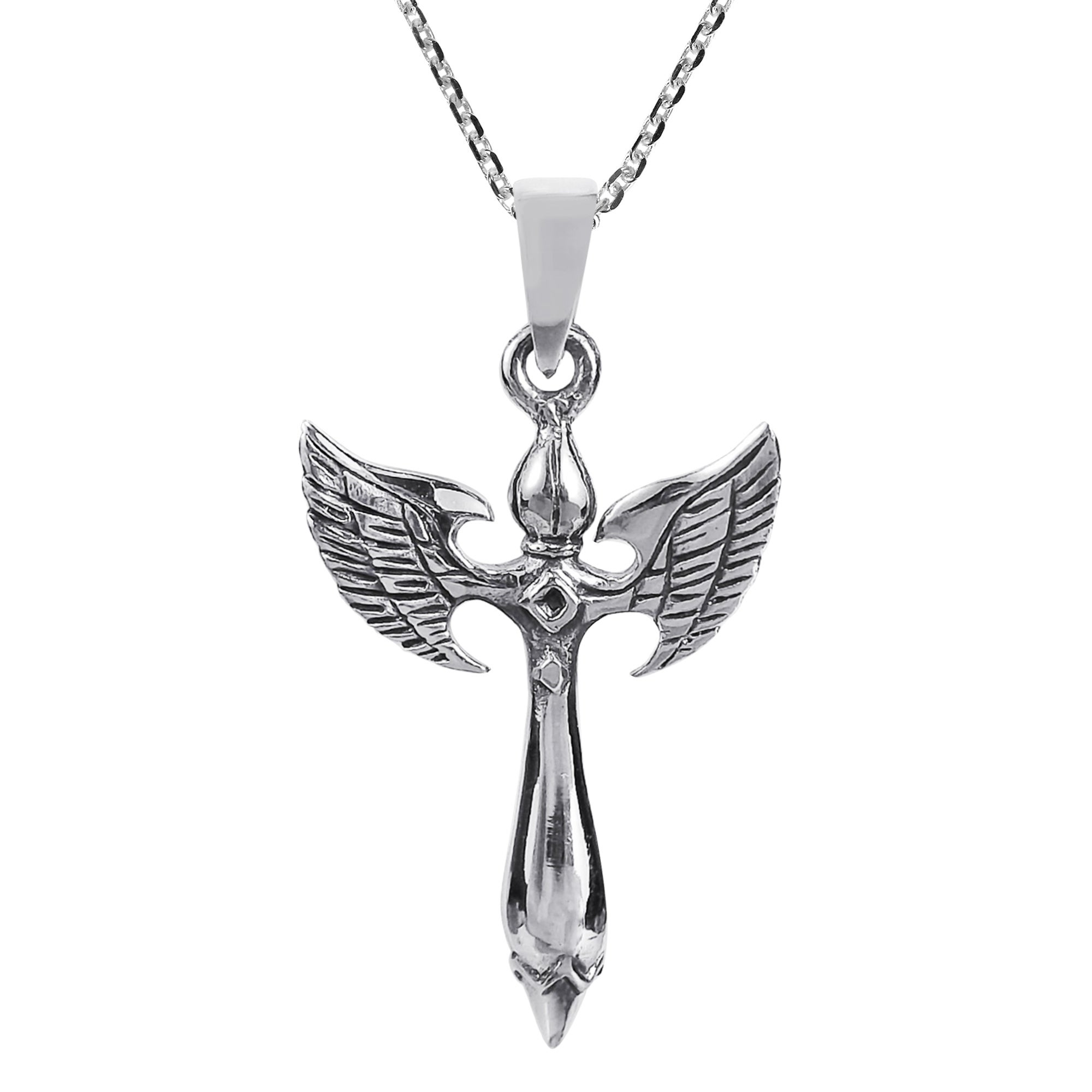svaha silver sterling apparel necklace honey honeybee winged bee image products