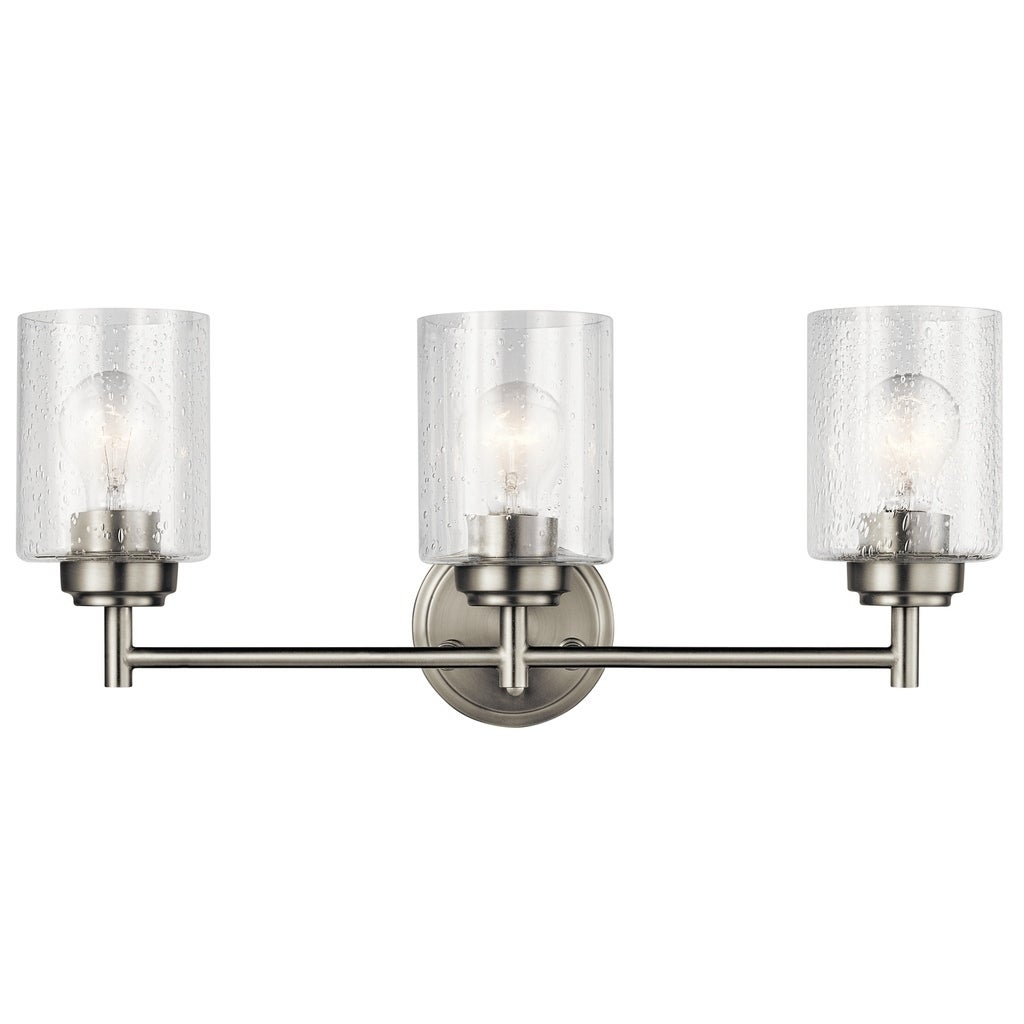 Kichler Lighting Winslow Collection 3-light Brushed Nickel Bath/Vanity Light  - Free Shipping Today - Overstock.com - 25542592