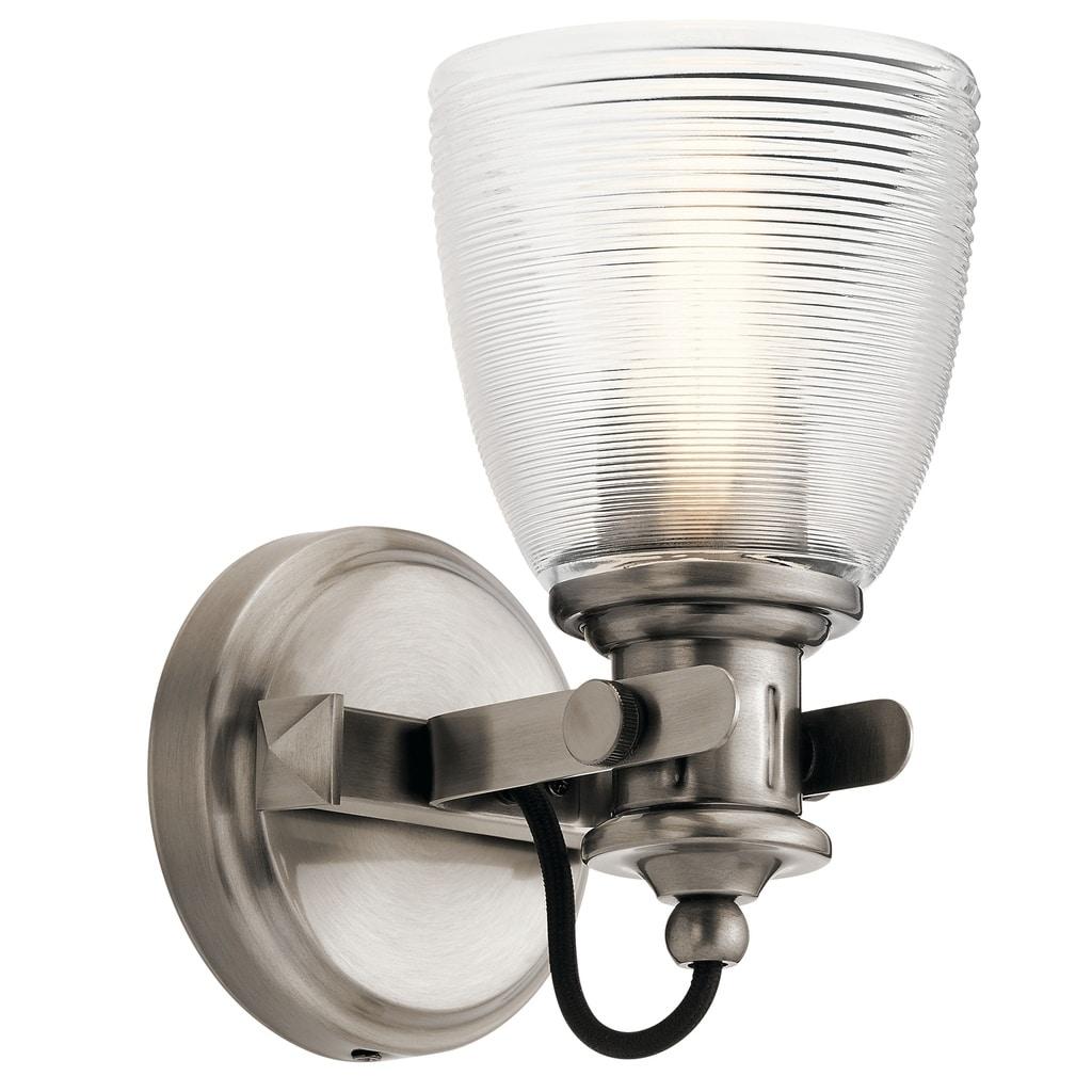 Shop Kichler Lighting Flagship Collection 1 Light Pewter Wall Sconce