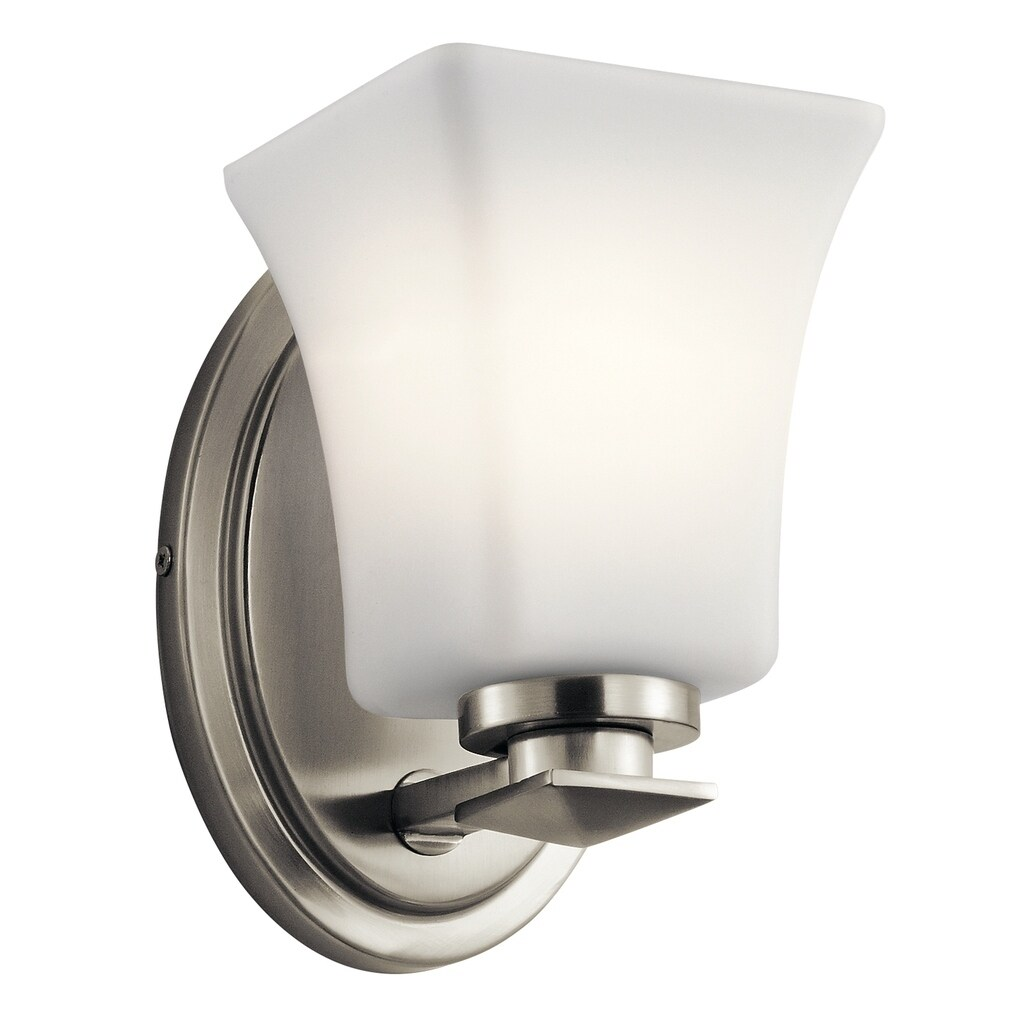 Kichler Lighting Clare Collection 1 Light Brushed Nickel Wall Sconce