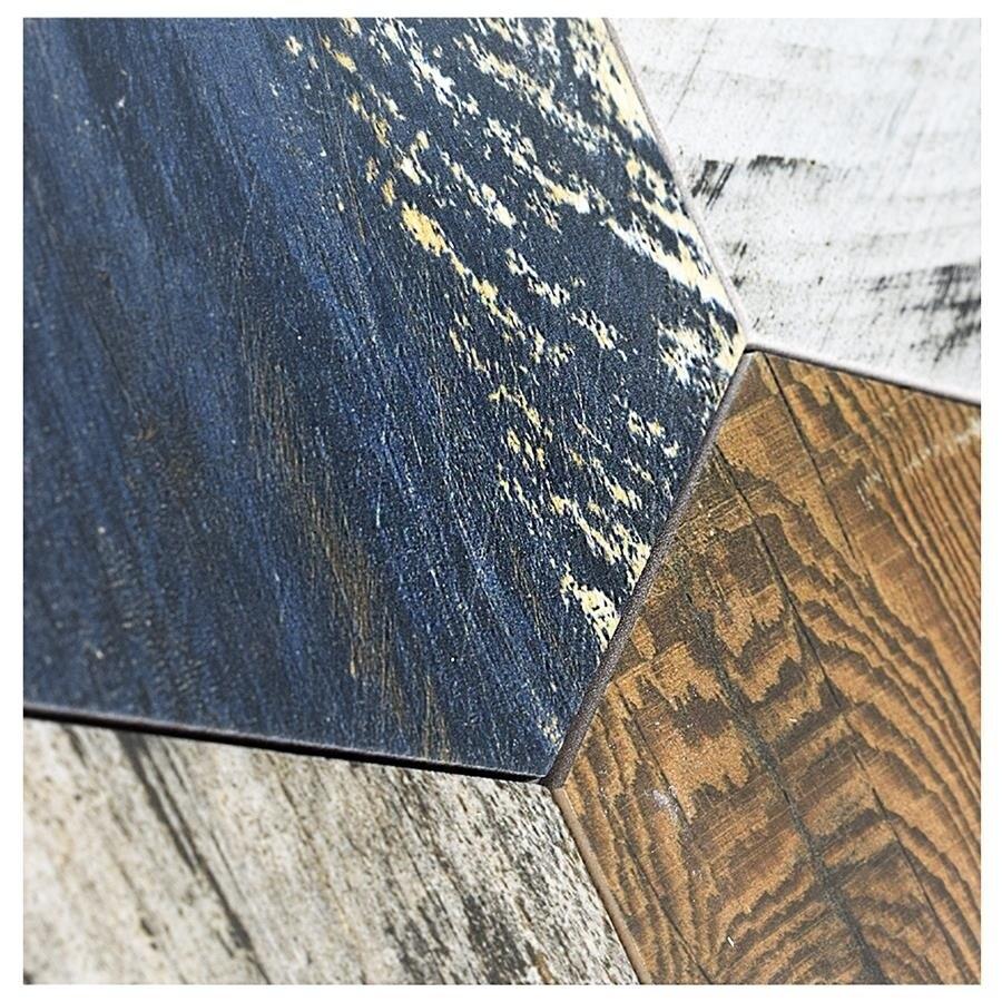 Shop SomerTile 8.5x9.75-inch Avant Hex Catan Shadow Porcelain Floor ...