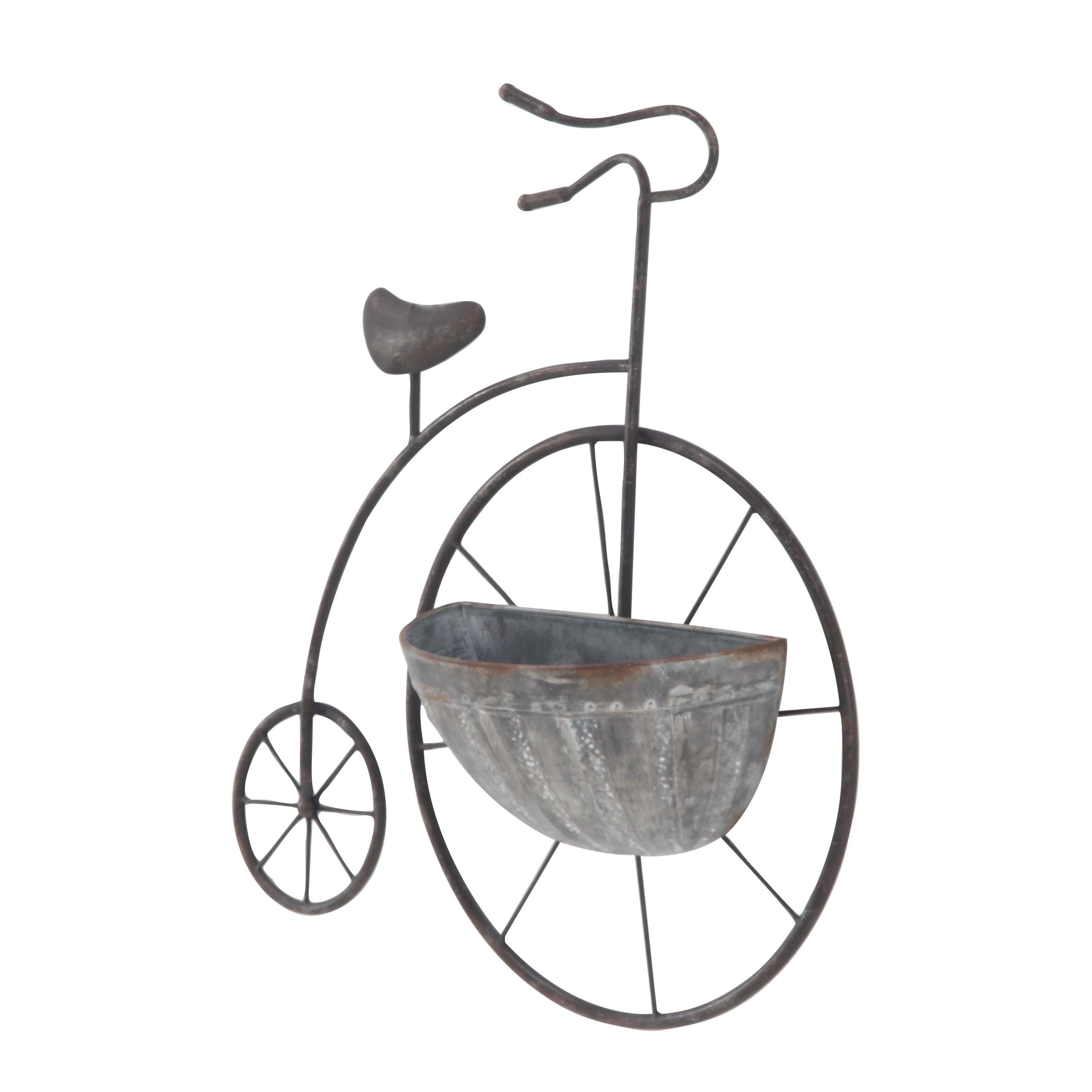 Shop Traditional Iron Penny Farthing Wall Planter As Is Item