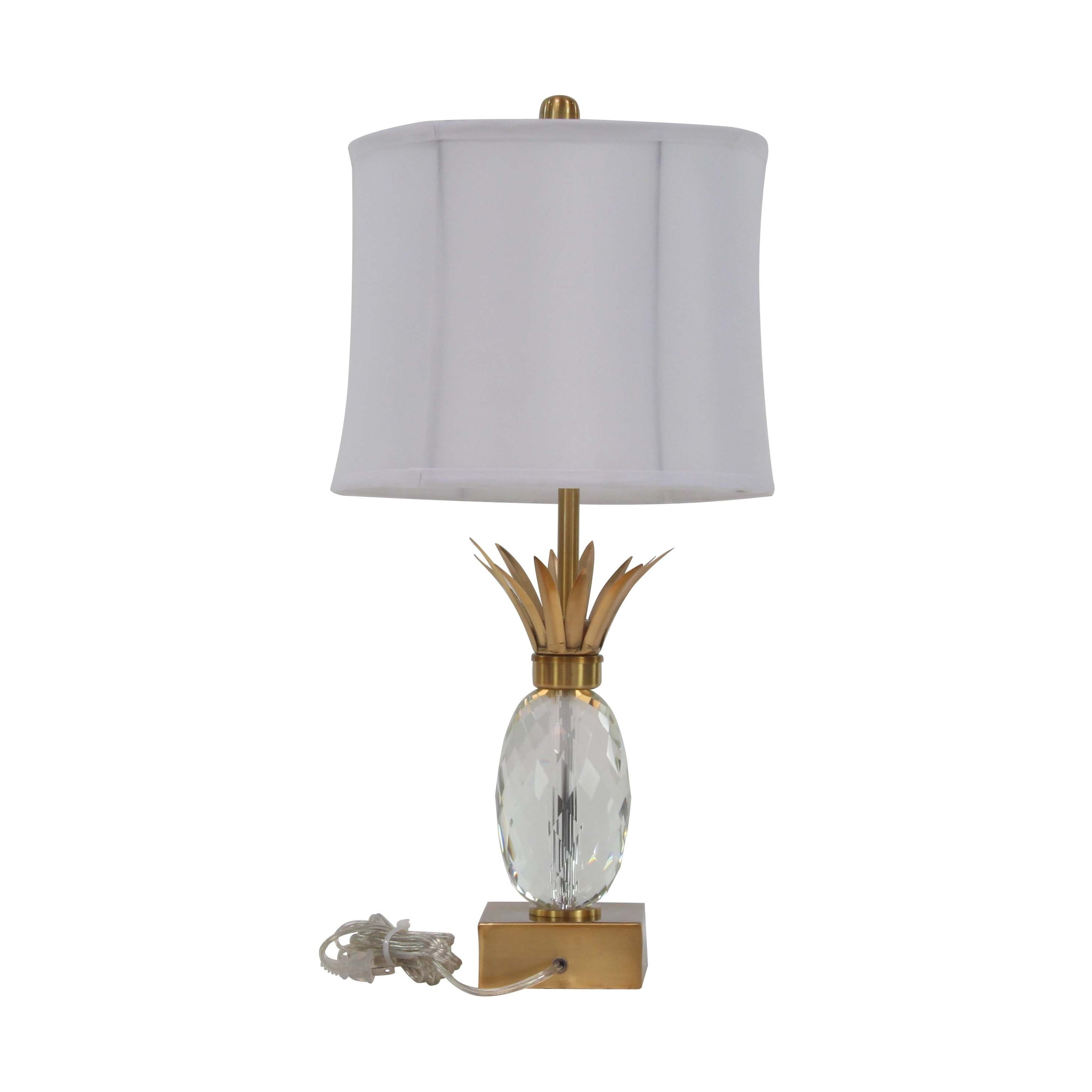 Shop Modern Iron And Crystal Pineapple Shape Table Lamp On Sale