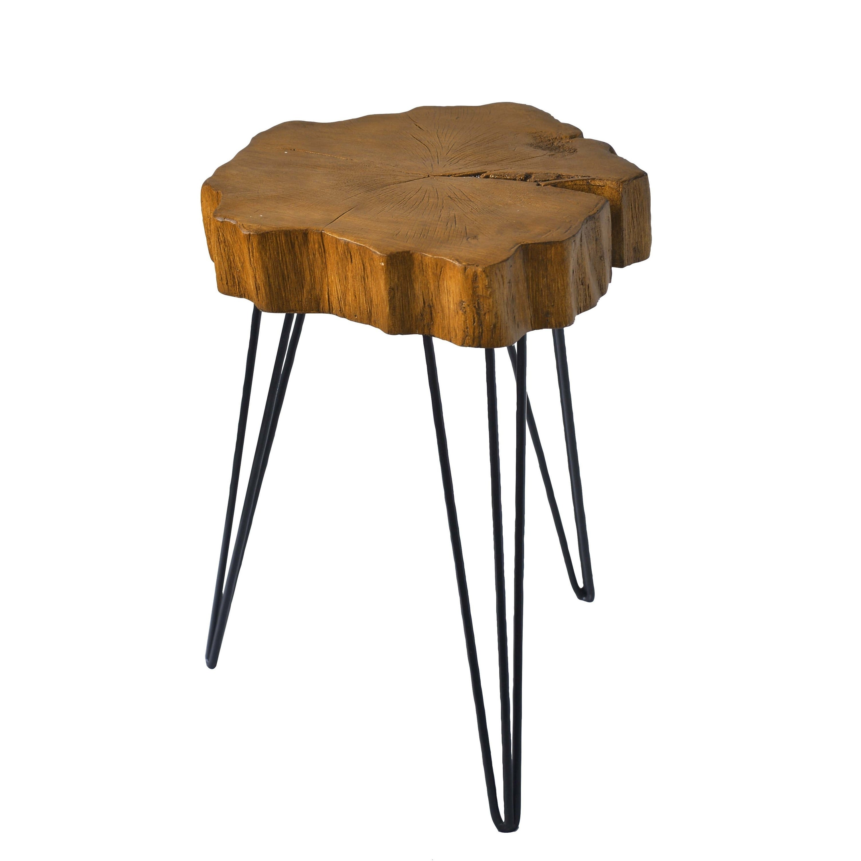 Contemporary 20 Inch Organic Shaped Brown Accent Table By Studio 350 Free Shipping Today 19559583