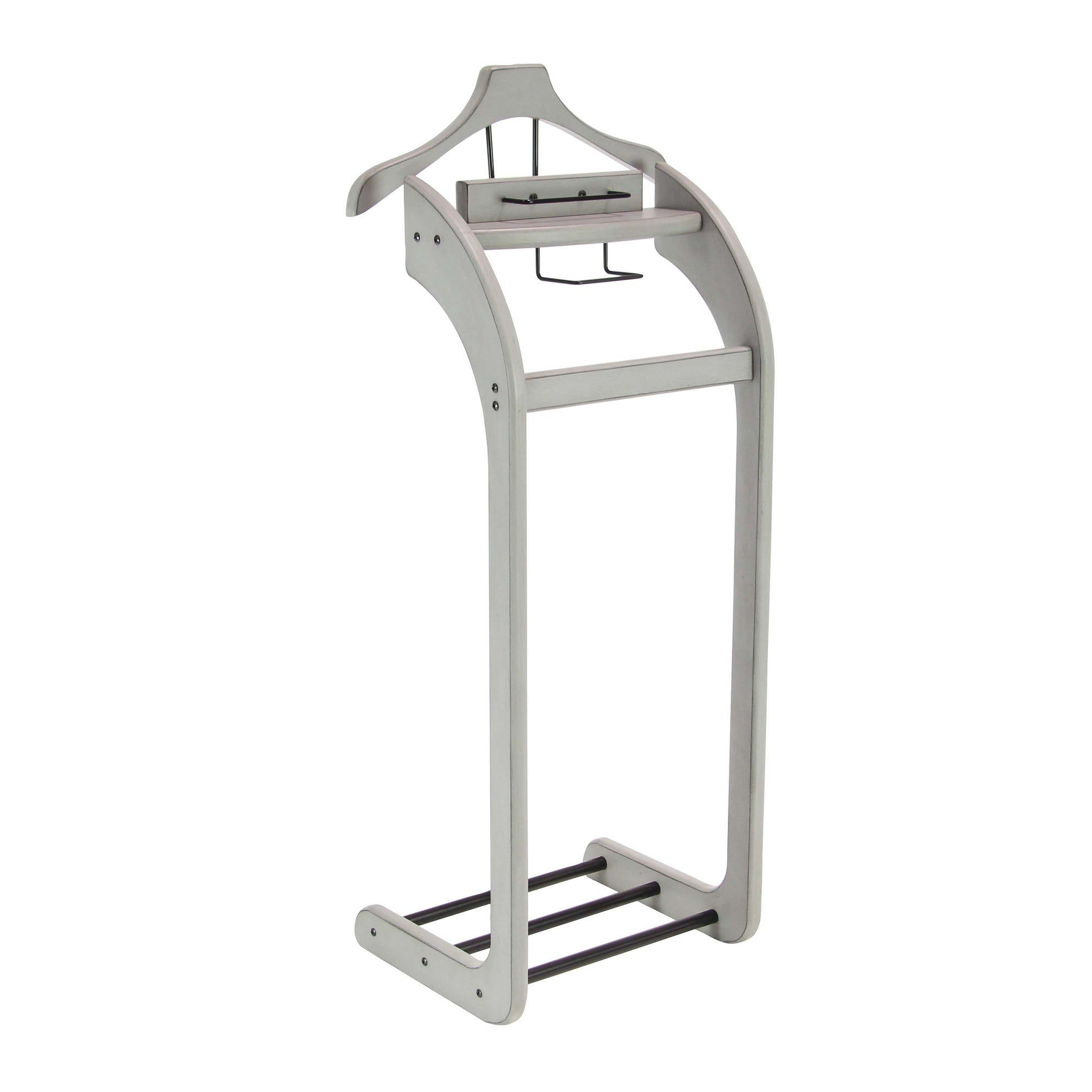 Shop Traditional 45 X 19 Inch Gray Wooden Valet Rack By Studio 350