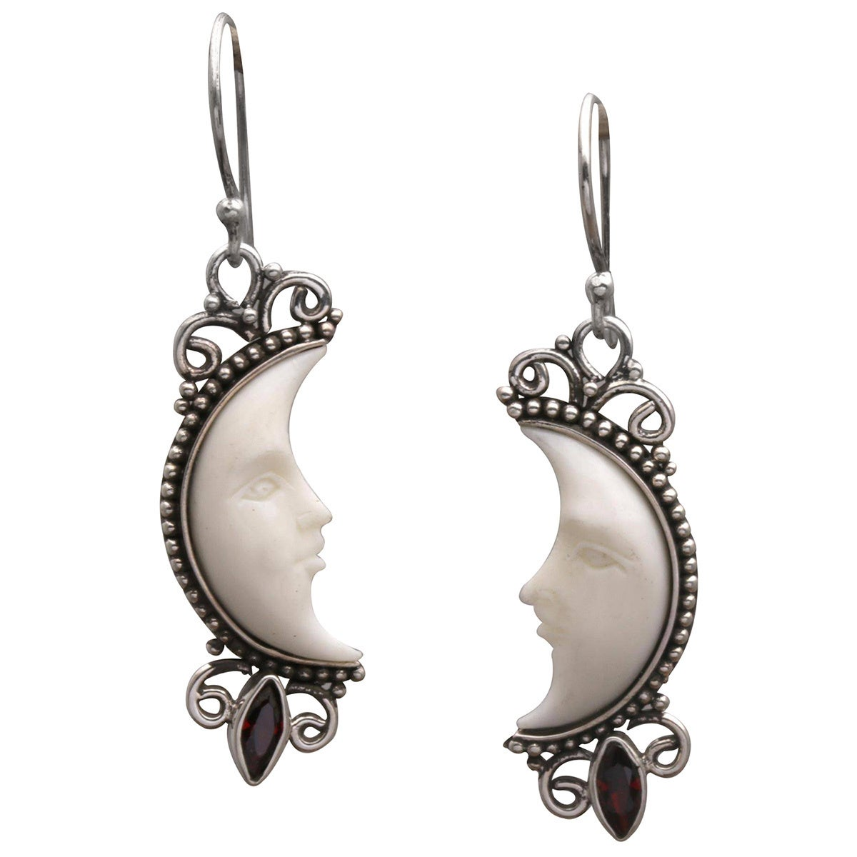 58722fc51 Shop Handmade Sterling Silver Natural Moonlight Garnet Earrings (Indonesia)  - On Sale - Free Shipping On Orders Over $45 - Overstock - 19560890